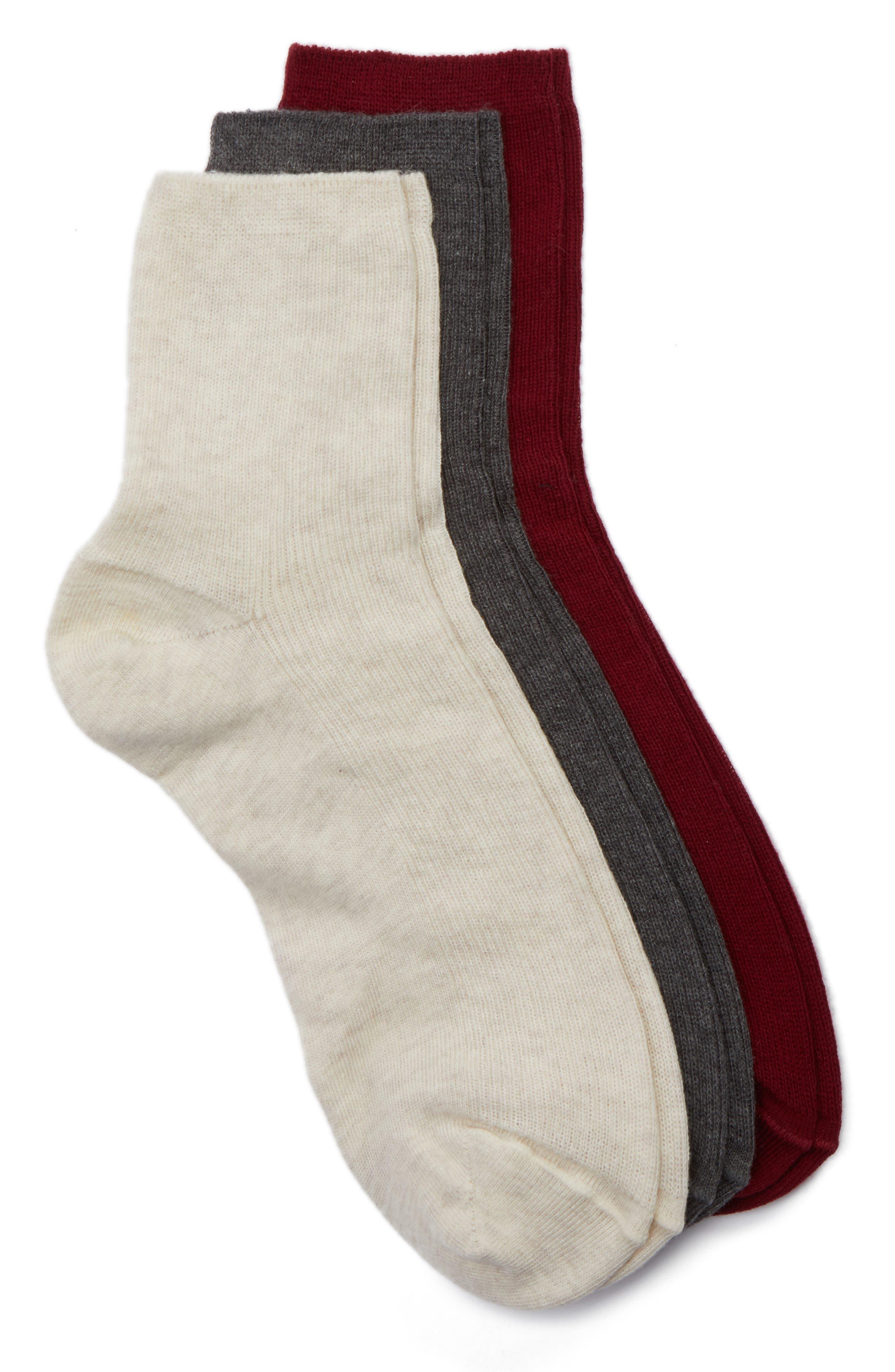 Nordstrom 3-Pack Ankle Socks