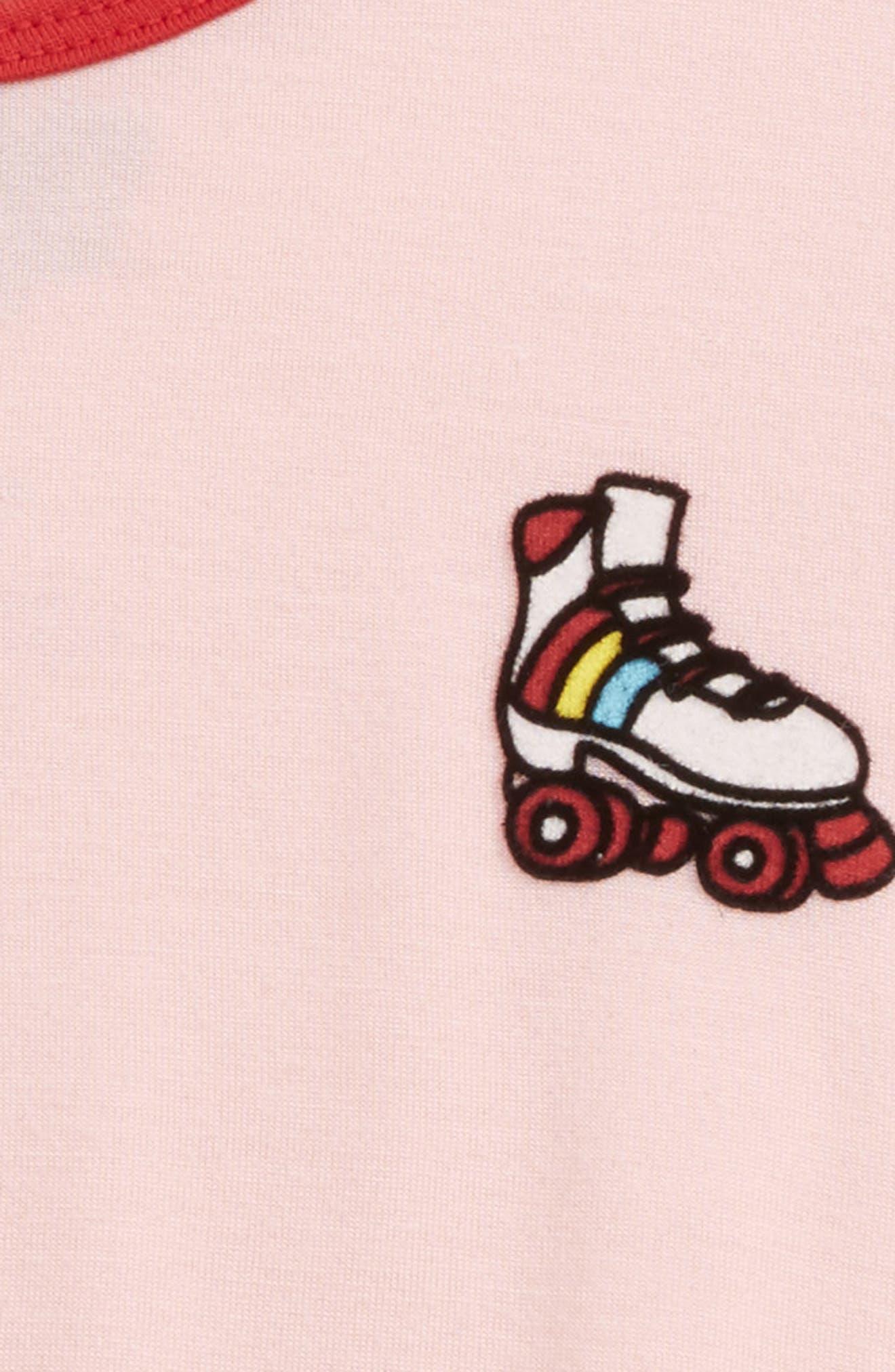 Alternate Image 2  - Mighty Fine Roller Skate Ringer Tee (Toddler Girls, Little Girls & Big Girls)