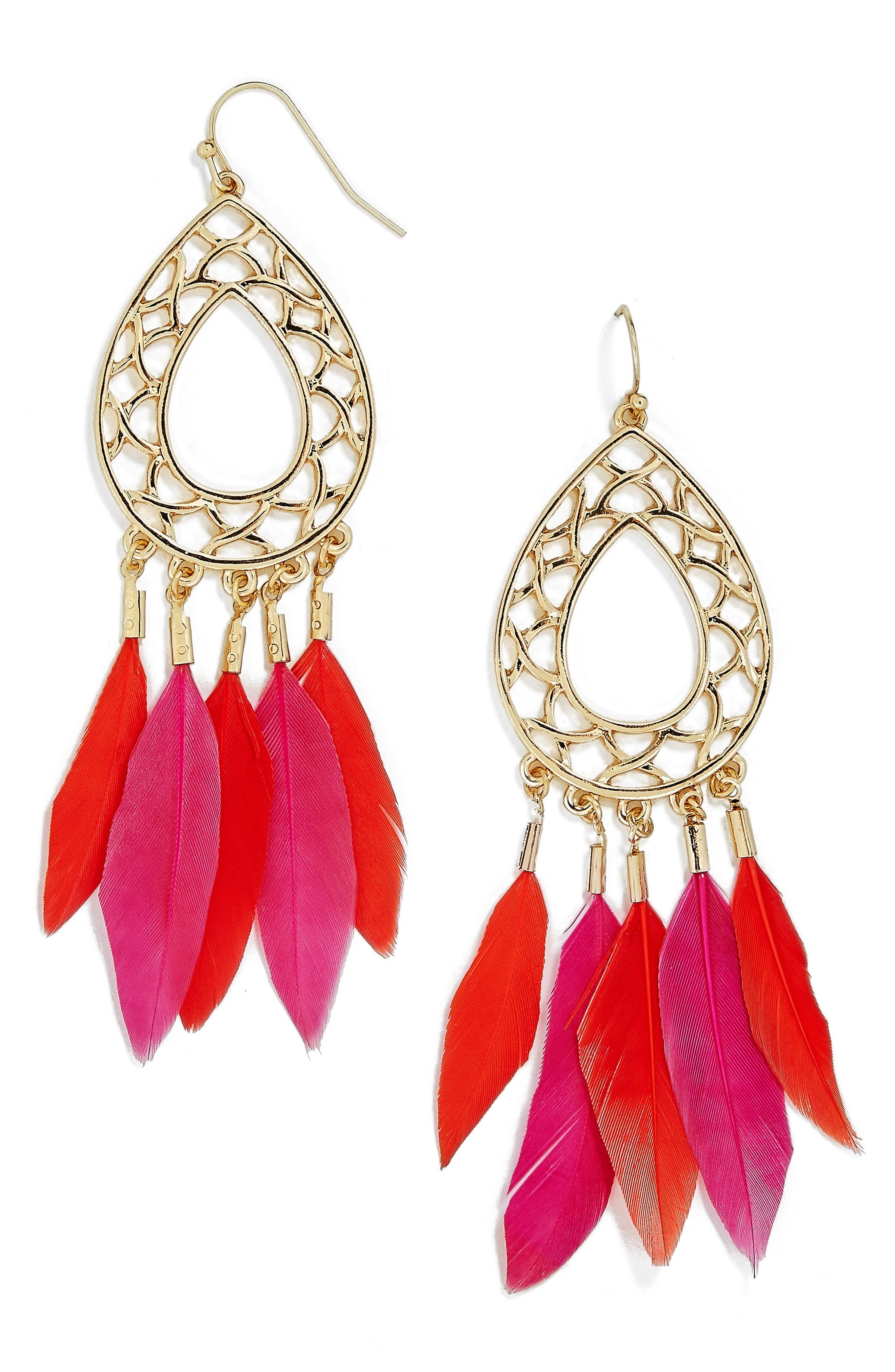 Baublebar Feather Drop Earrings