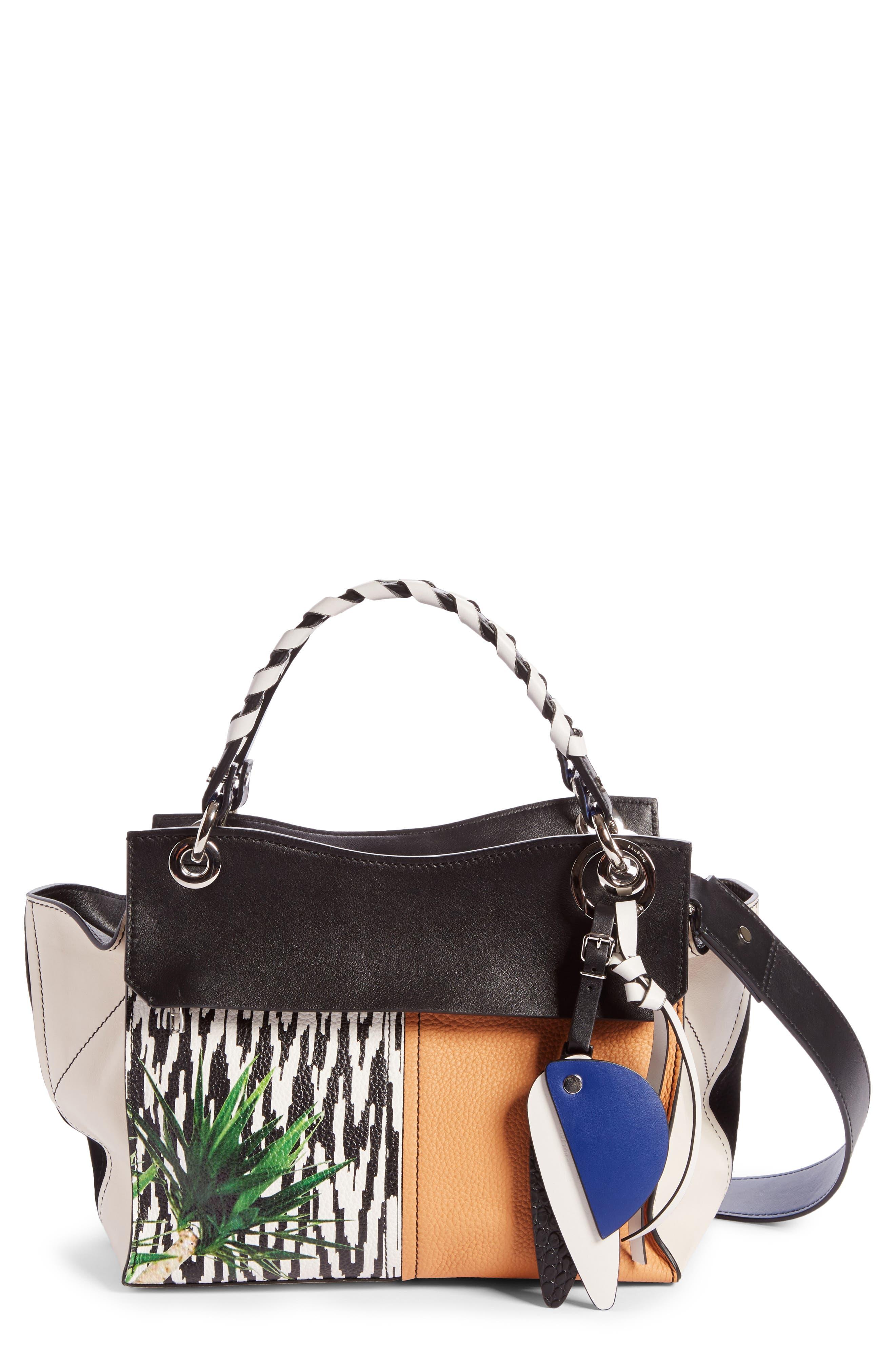 Proenza Schouler Curl Mix Print Leather Shoulder Bag