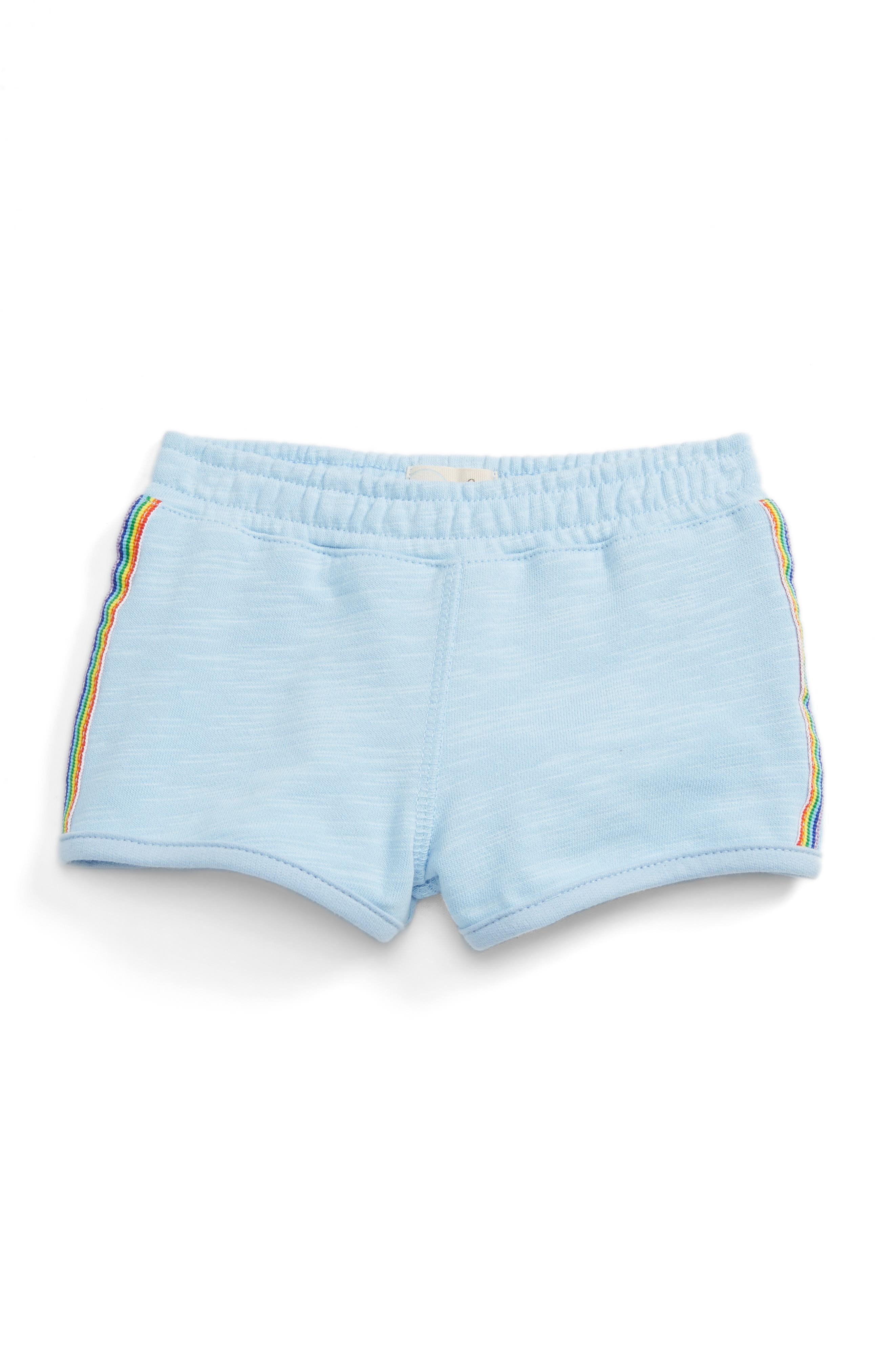 Peek Rainbow Stripe Track Shorts (Baby Girls)