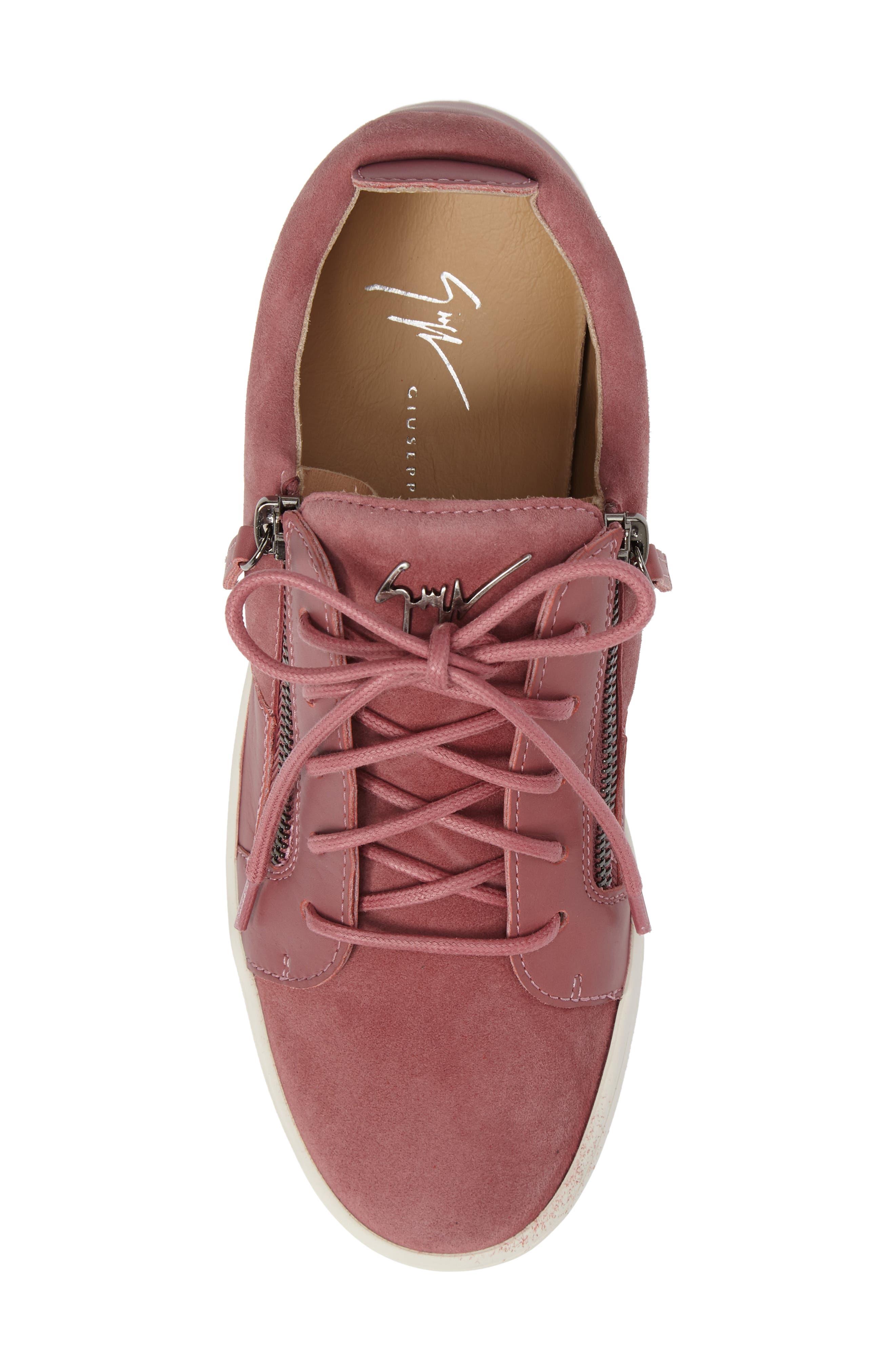 Alternate Image 5  - Giuseppe Zanotti Low Top Zip Sneaker (Women)