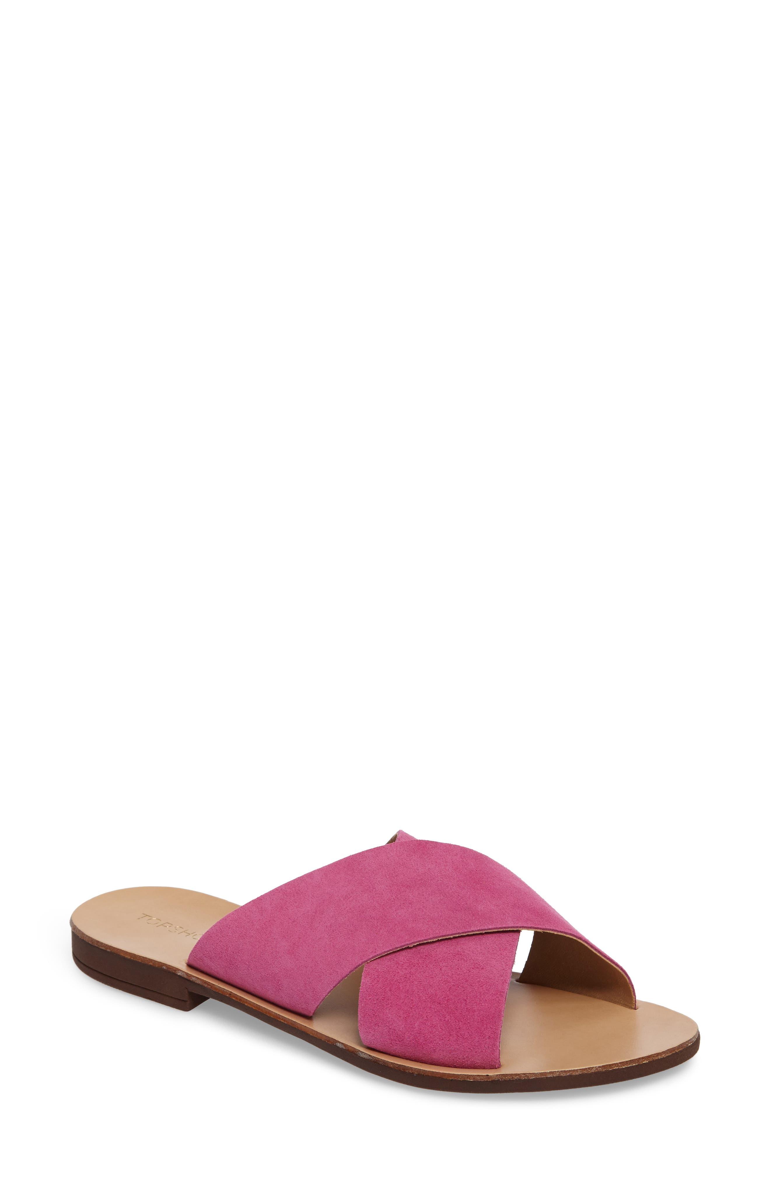 Main Image - Topshop Hawaii Crisscross Sandal (Women)