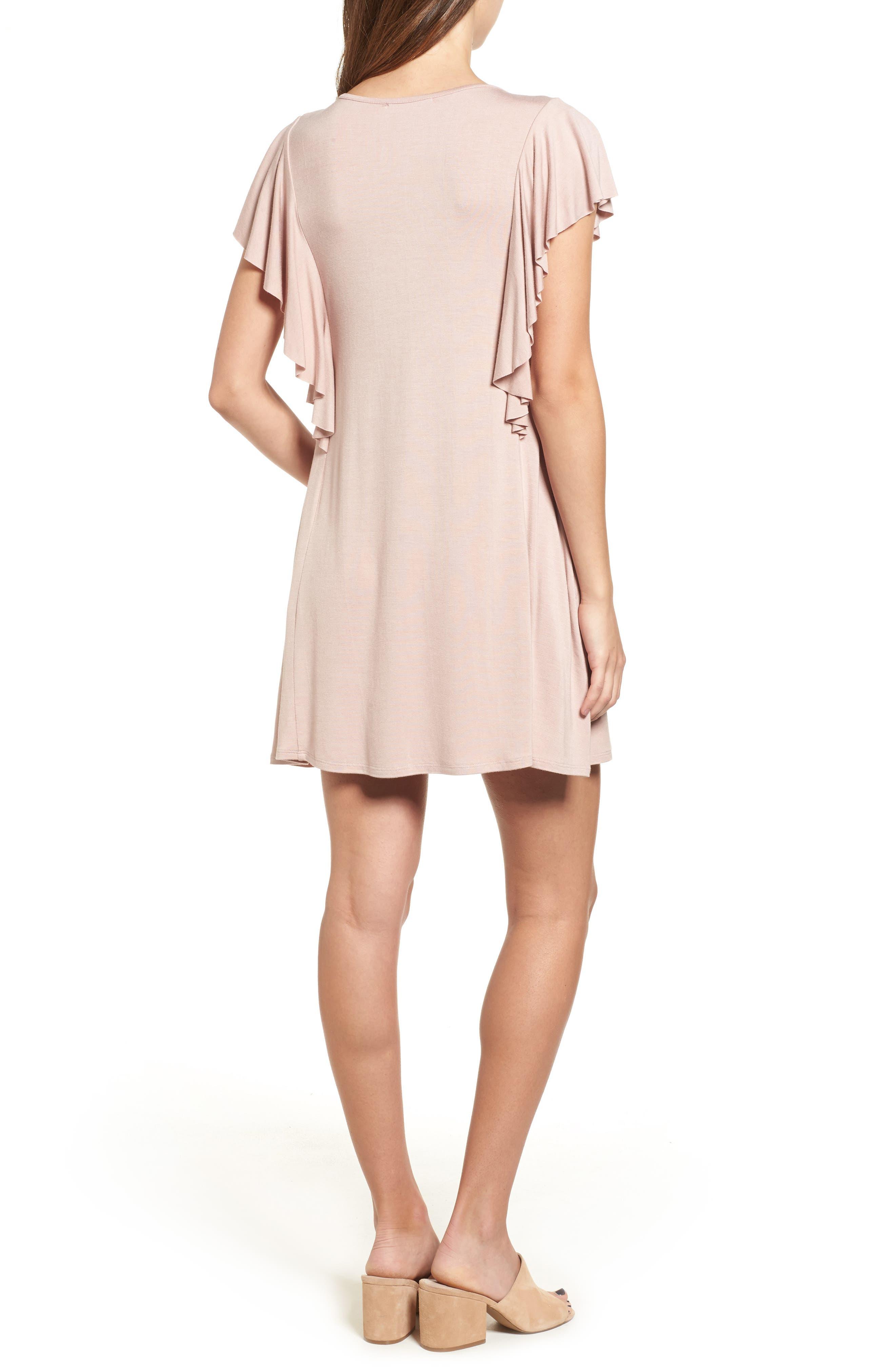 Alternate Image 2  - Socialite Ruffle Sleeve T-Shirt Dress