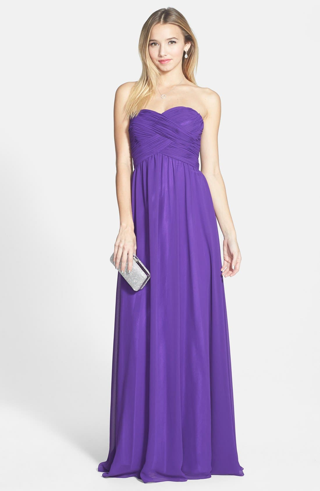 Alternate Image 1 Selected - Faviana Colorblock Chiffon Gown
