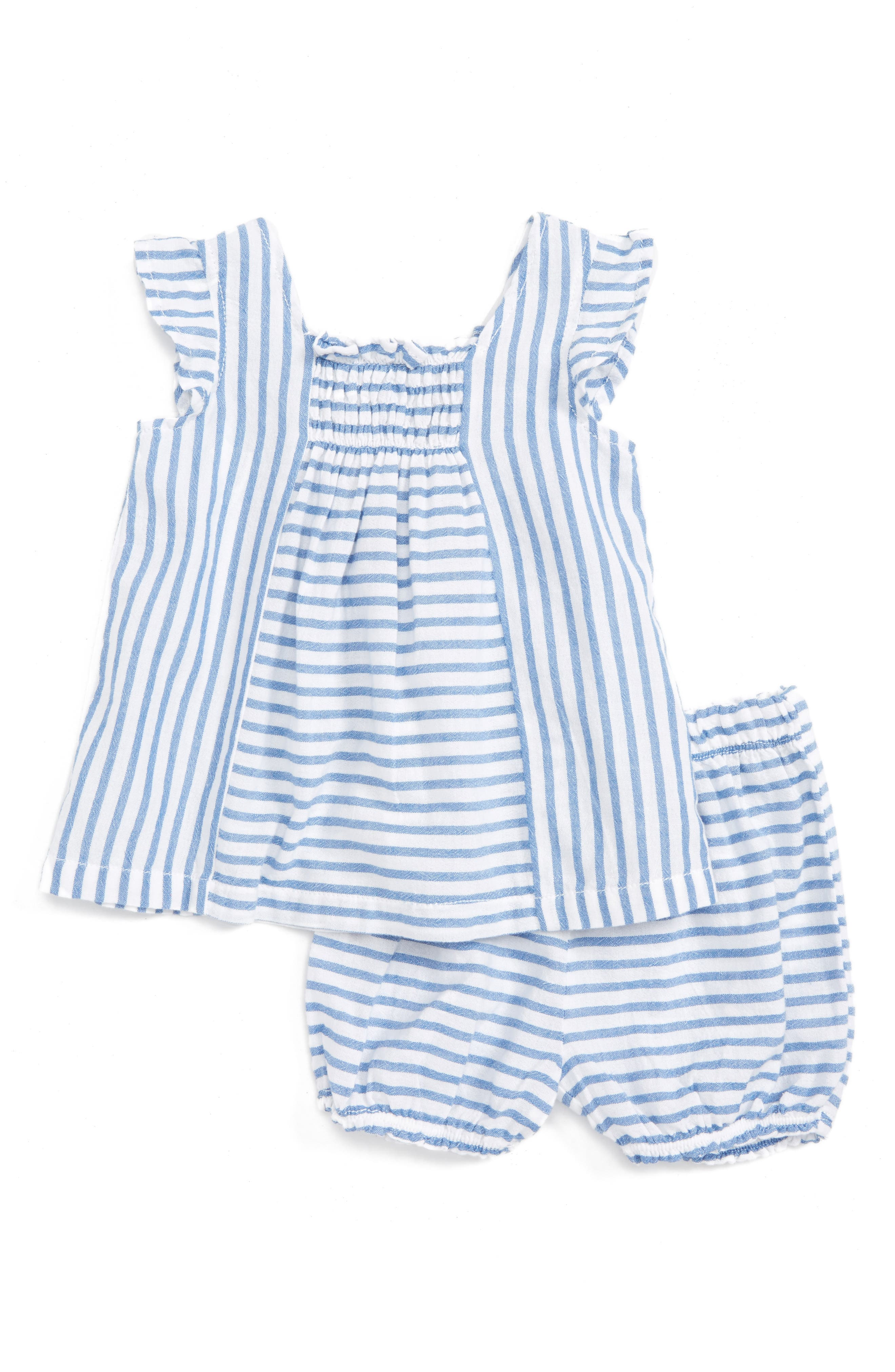 Tucker + Tate Flutter Sleeve Tunic & Shorts Set (Baby Girls)