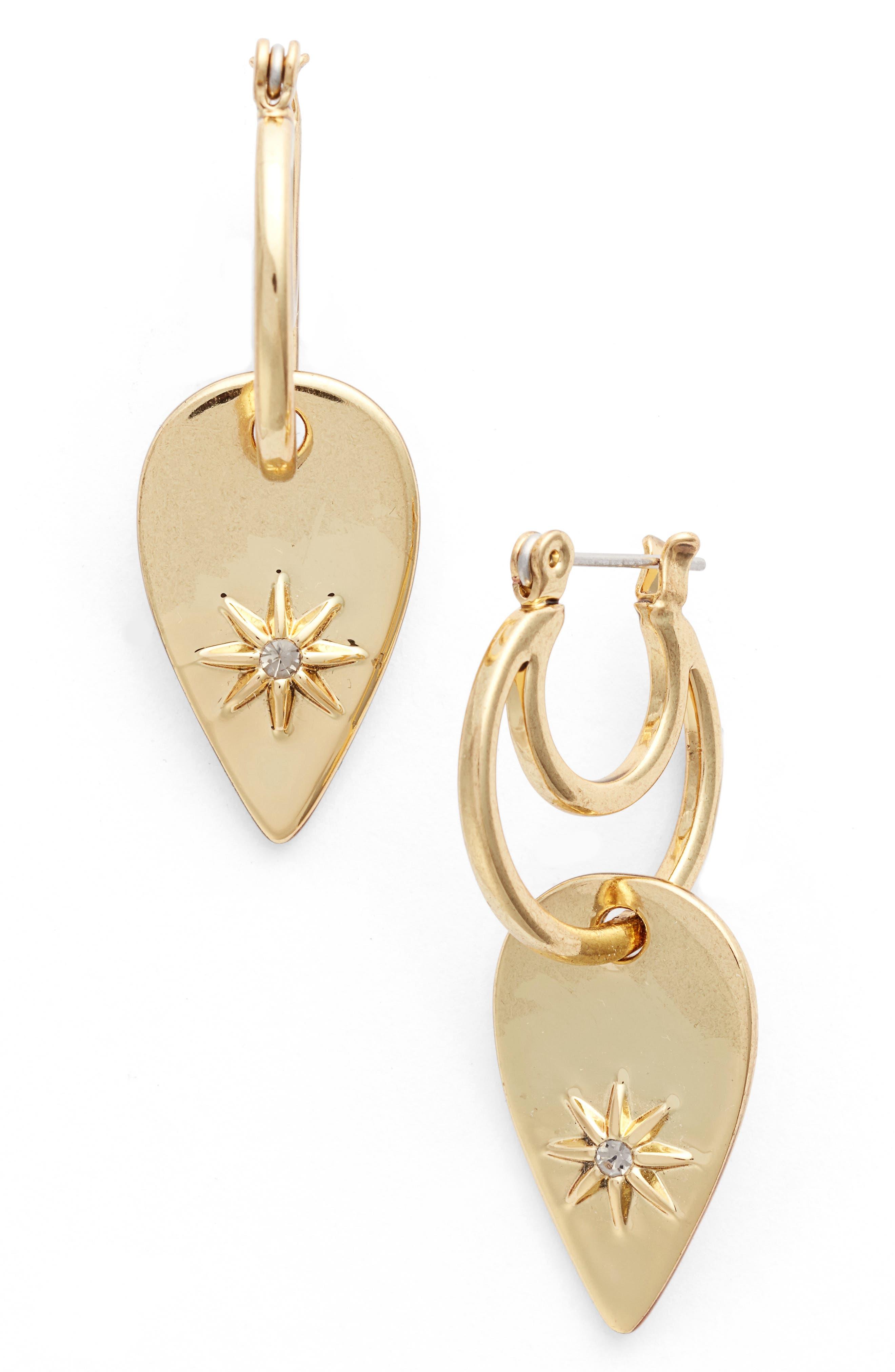Luv AJ Starburst Double Drop Earrings
