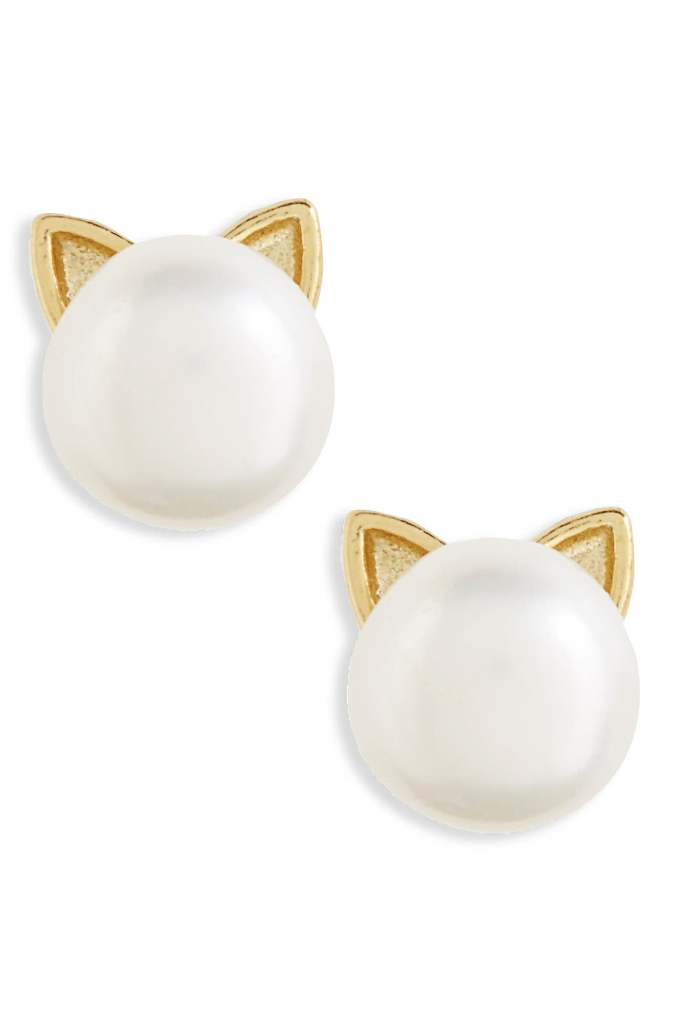 Tomas Cat Ear Pearl Stud Earrings (Girls)