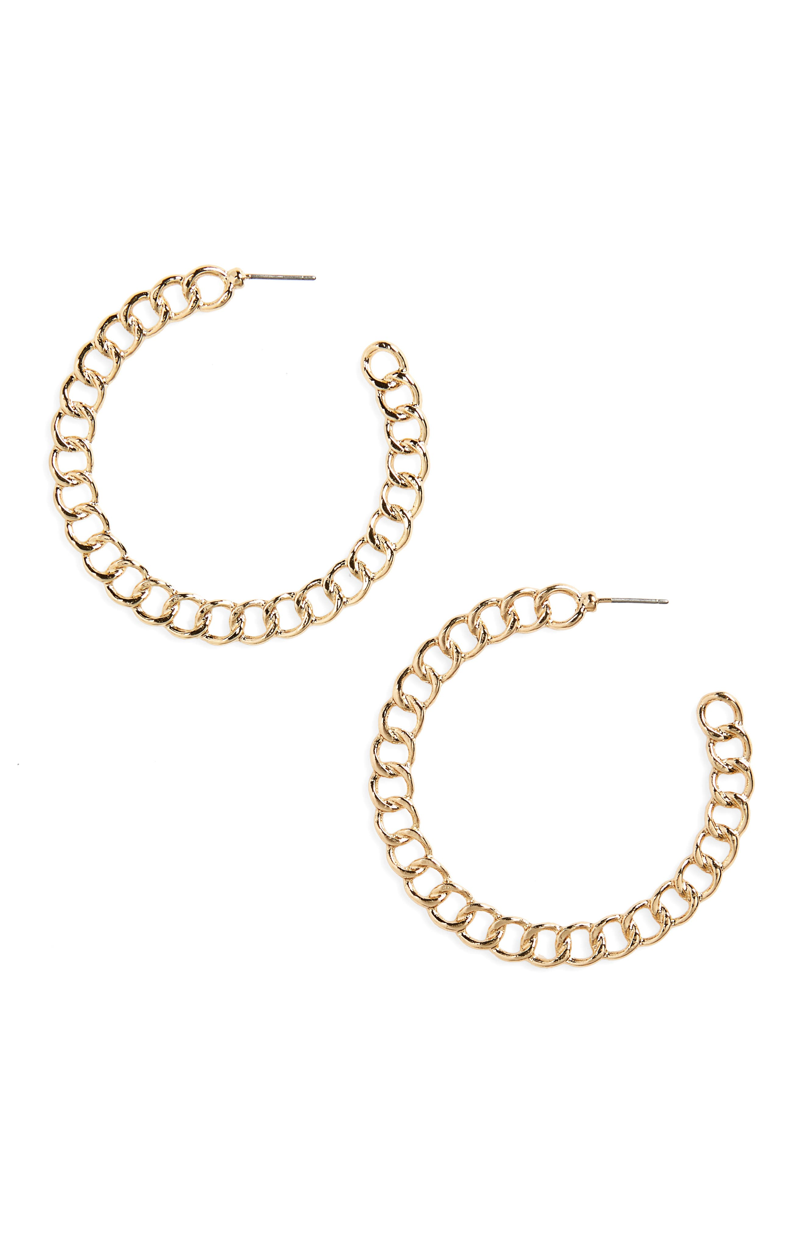 BP. Chain Hoop Earrings