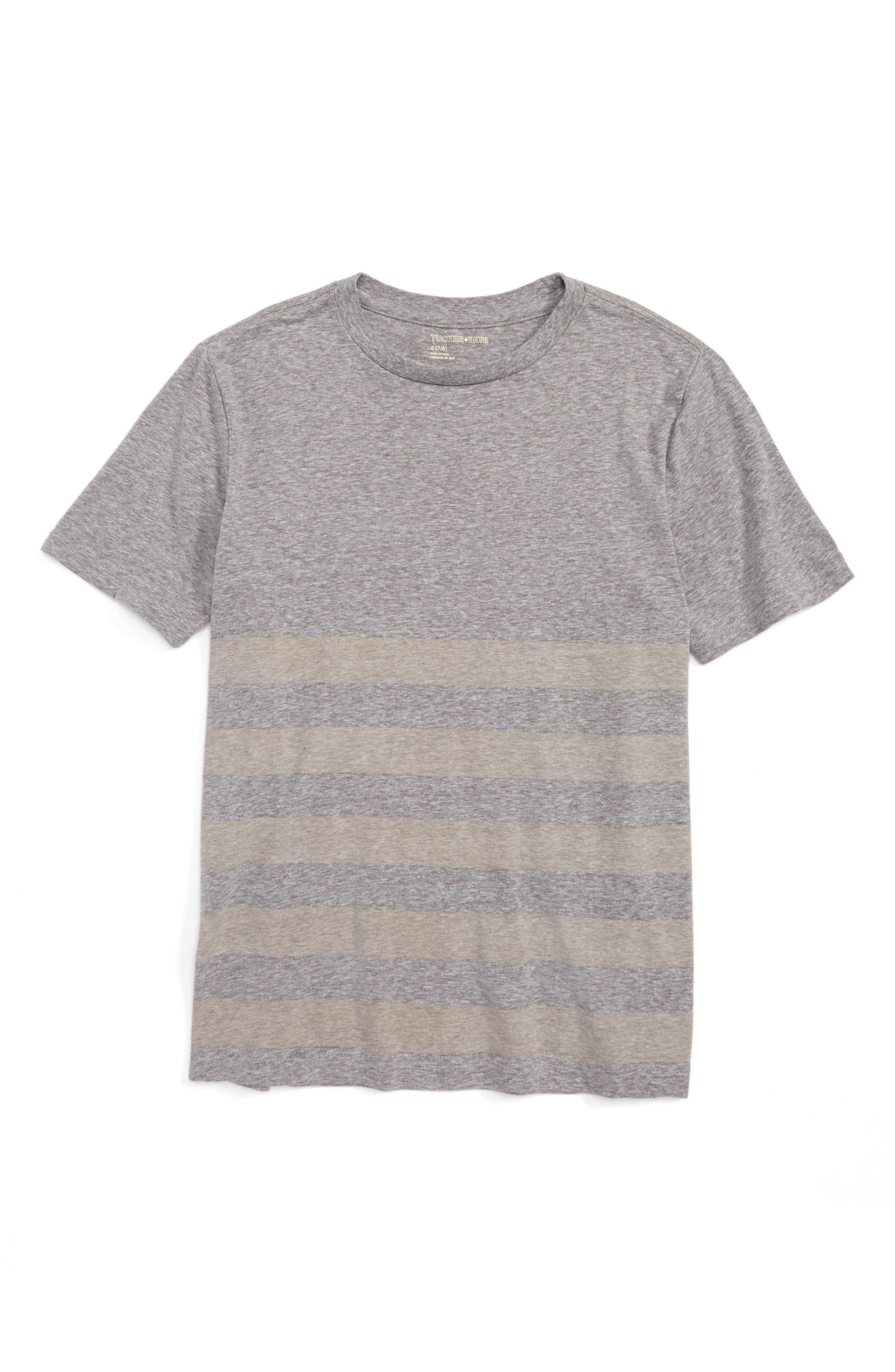 Tucker + Tate Placed Stripe T-Shirt (Big Boys)