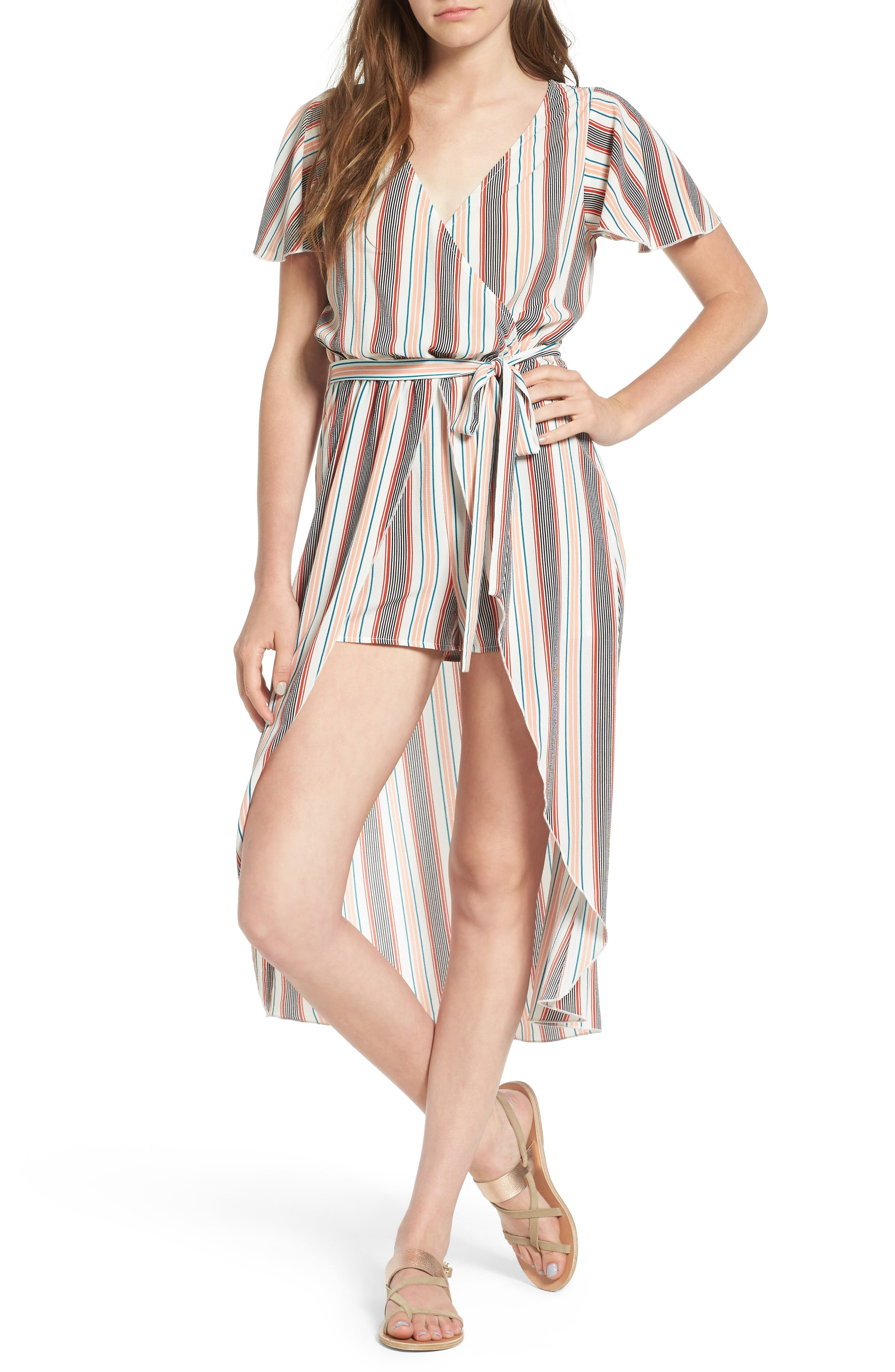 Love, Fire Surplice Maxi Romper
