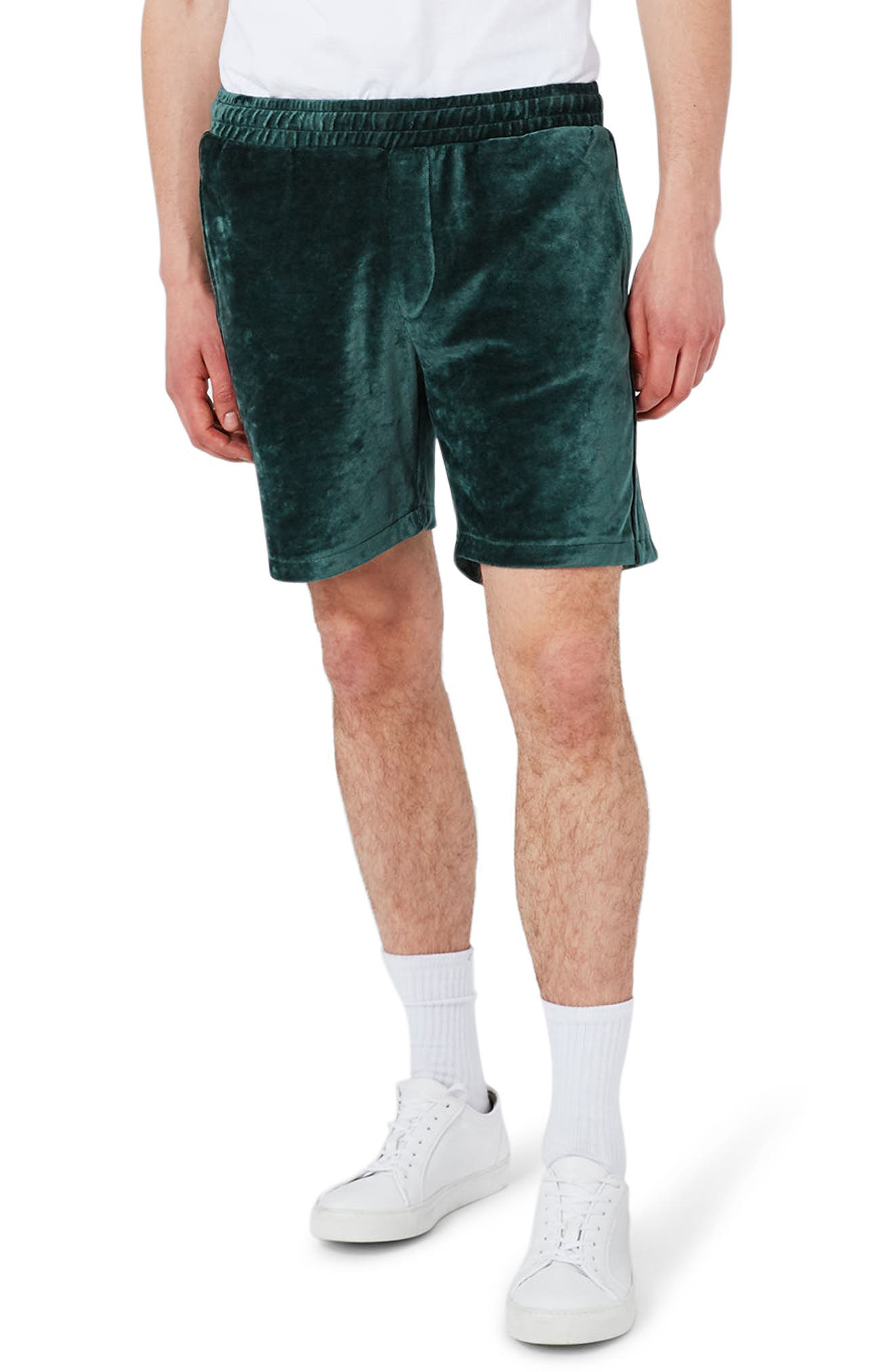 Topman Piped Velour Shorts