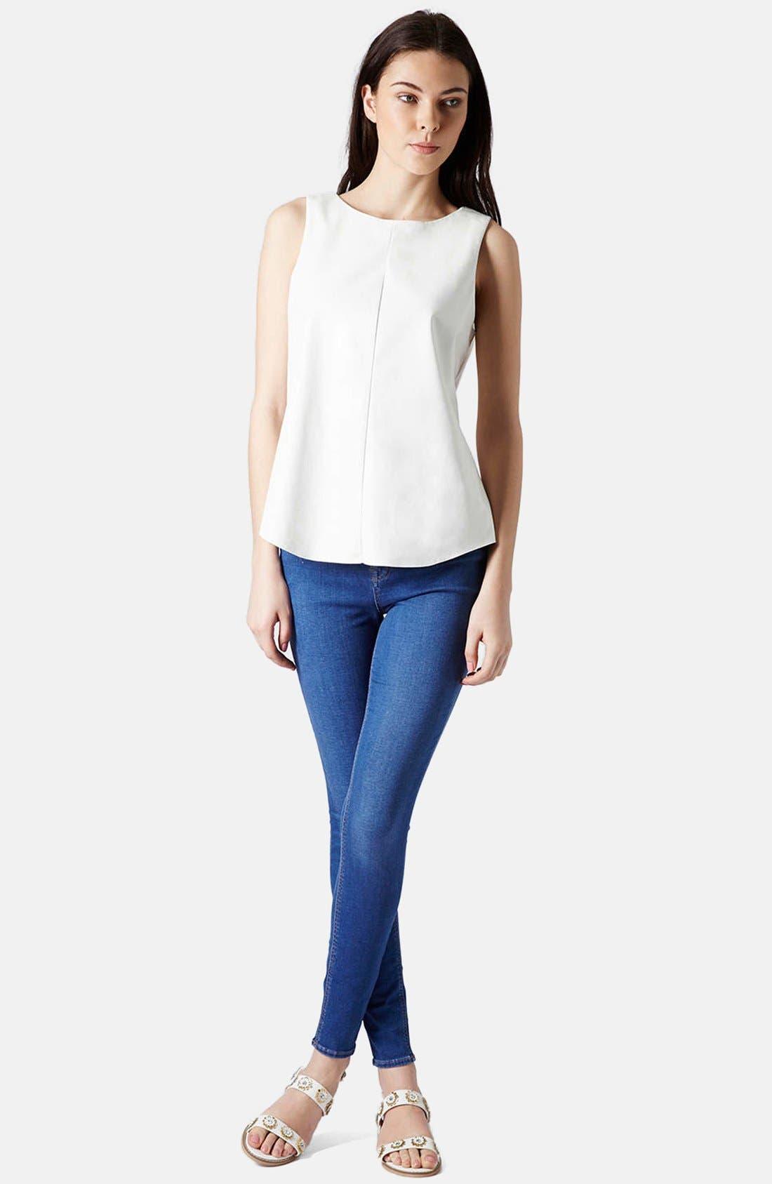 Alternate Image 5  - Topshop 'Leigh' Ankle Skinny Jeans (Mid Denim)