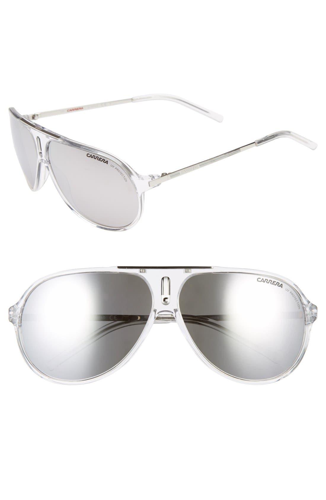 Carrera Eyewear 'Hots' 64mm Aviator Sunglasses