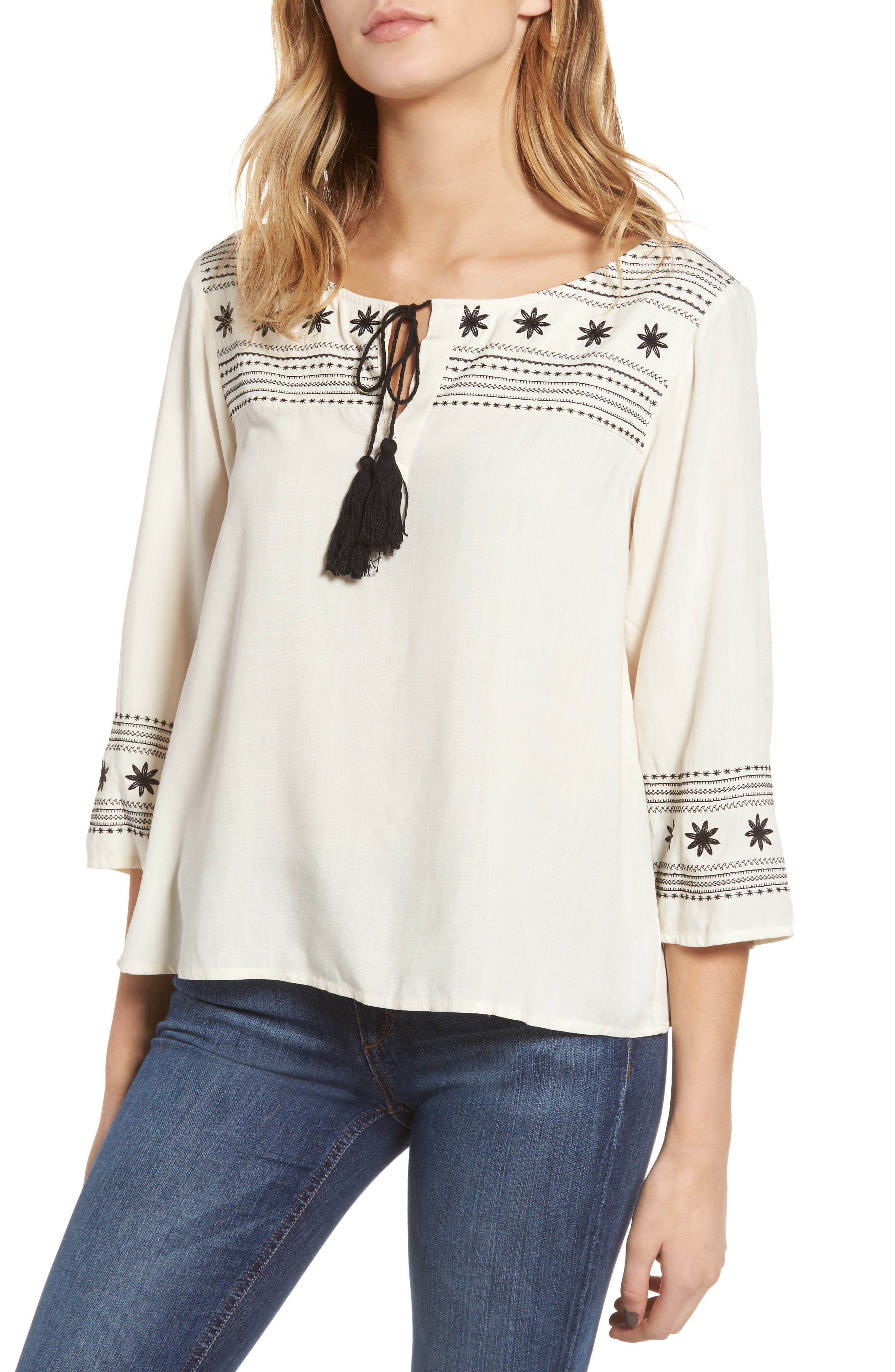 cupcakes and cashmere Jed Peasant Top