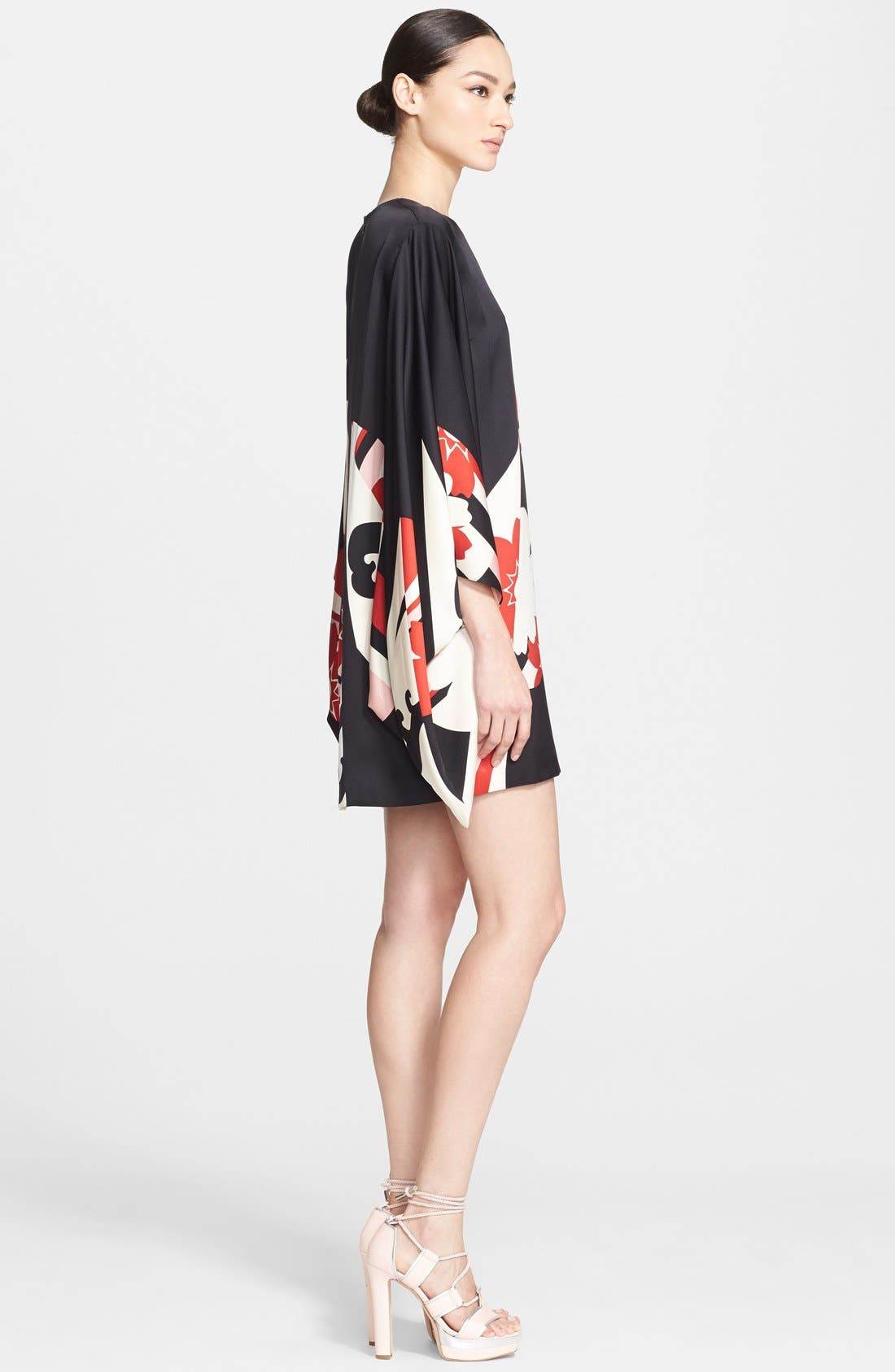 Alternate Image 3  - Alexander McQueen Print Satin Caftan Dress