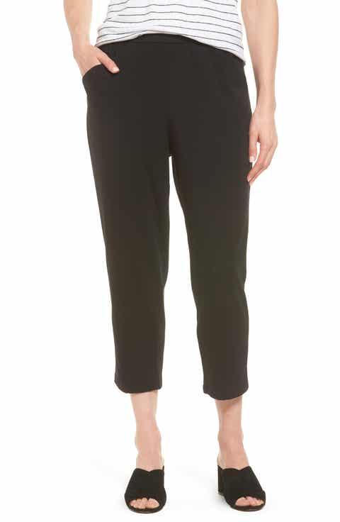 Eileen Fisher Stretch Organic Cotton Crop Pants