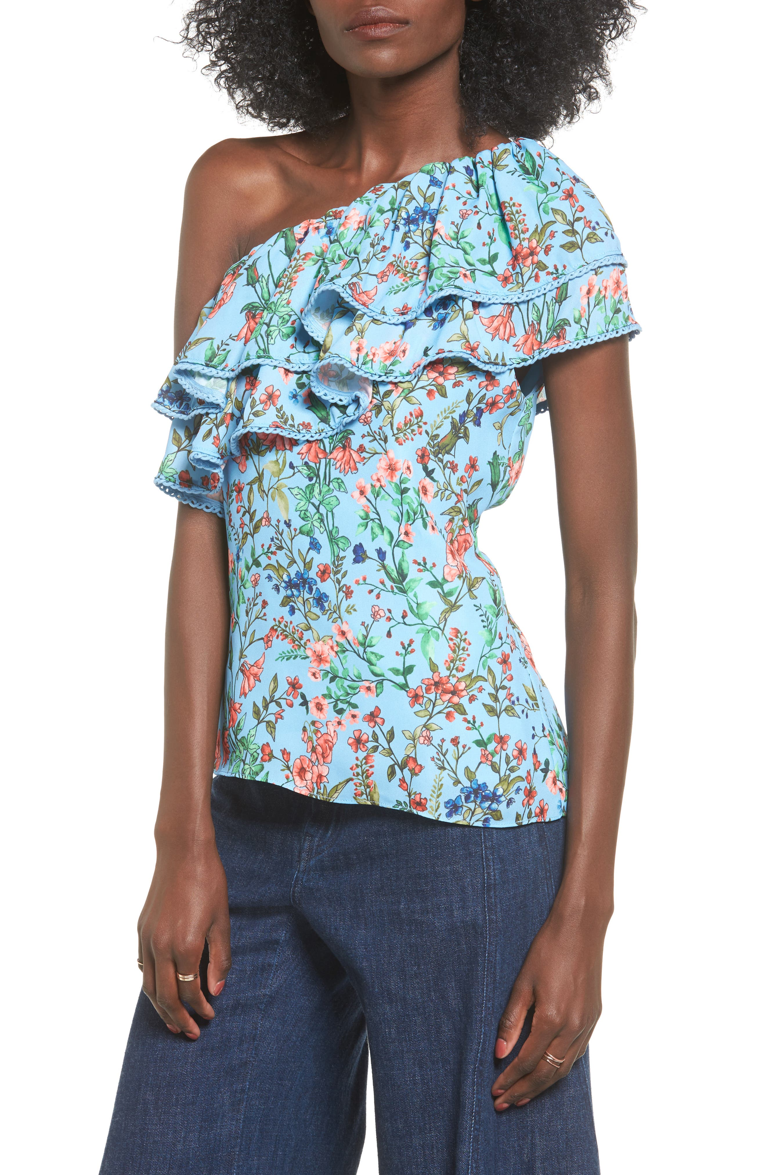 devlin Vicky One-Shoulder Blouse