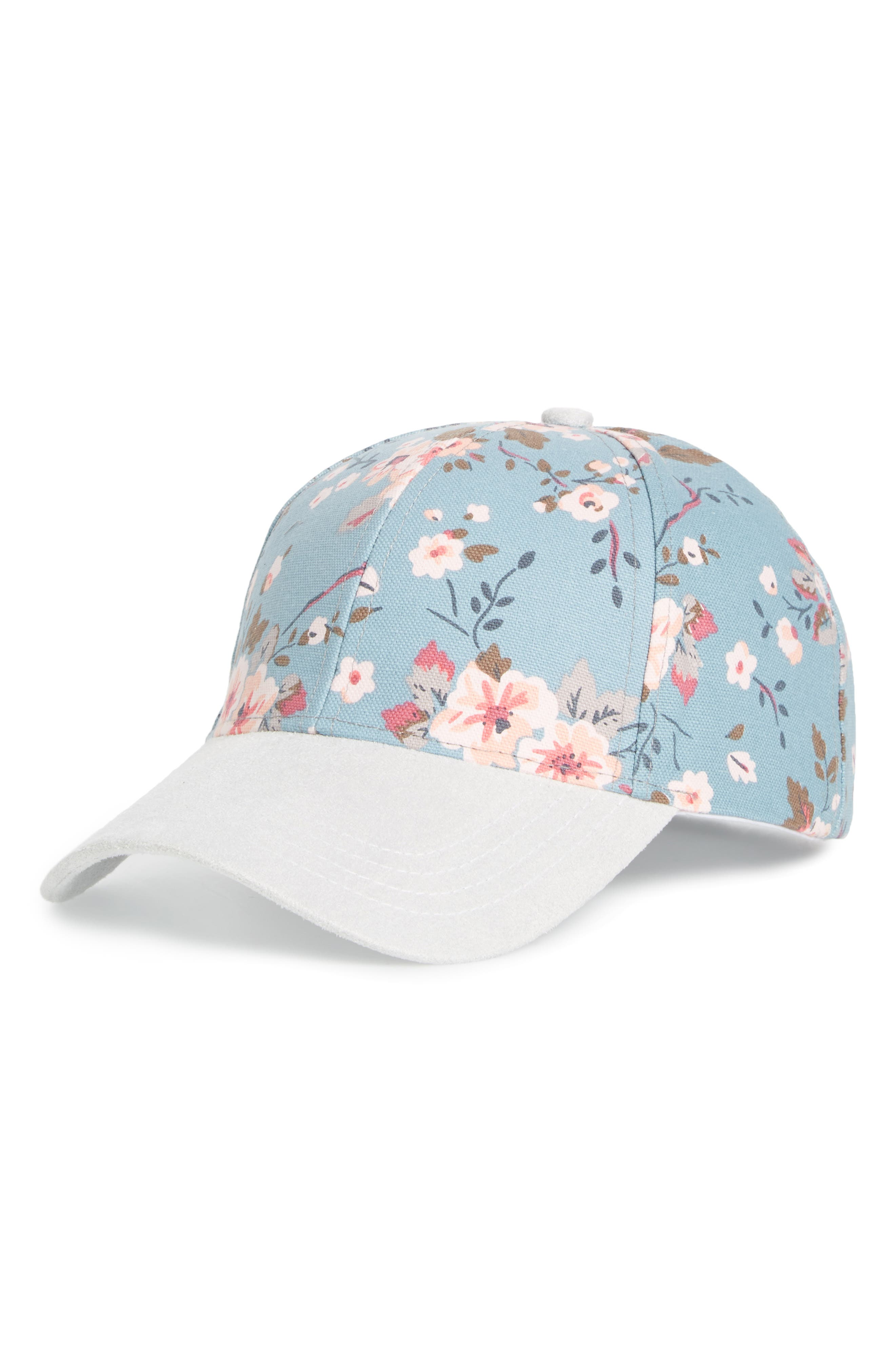 Collection XIIX Flower Print Adjustable Baseball Cap