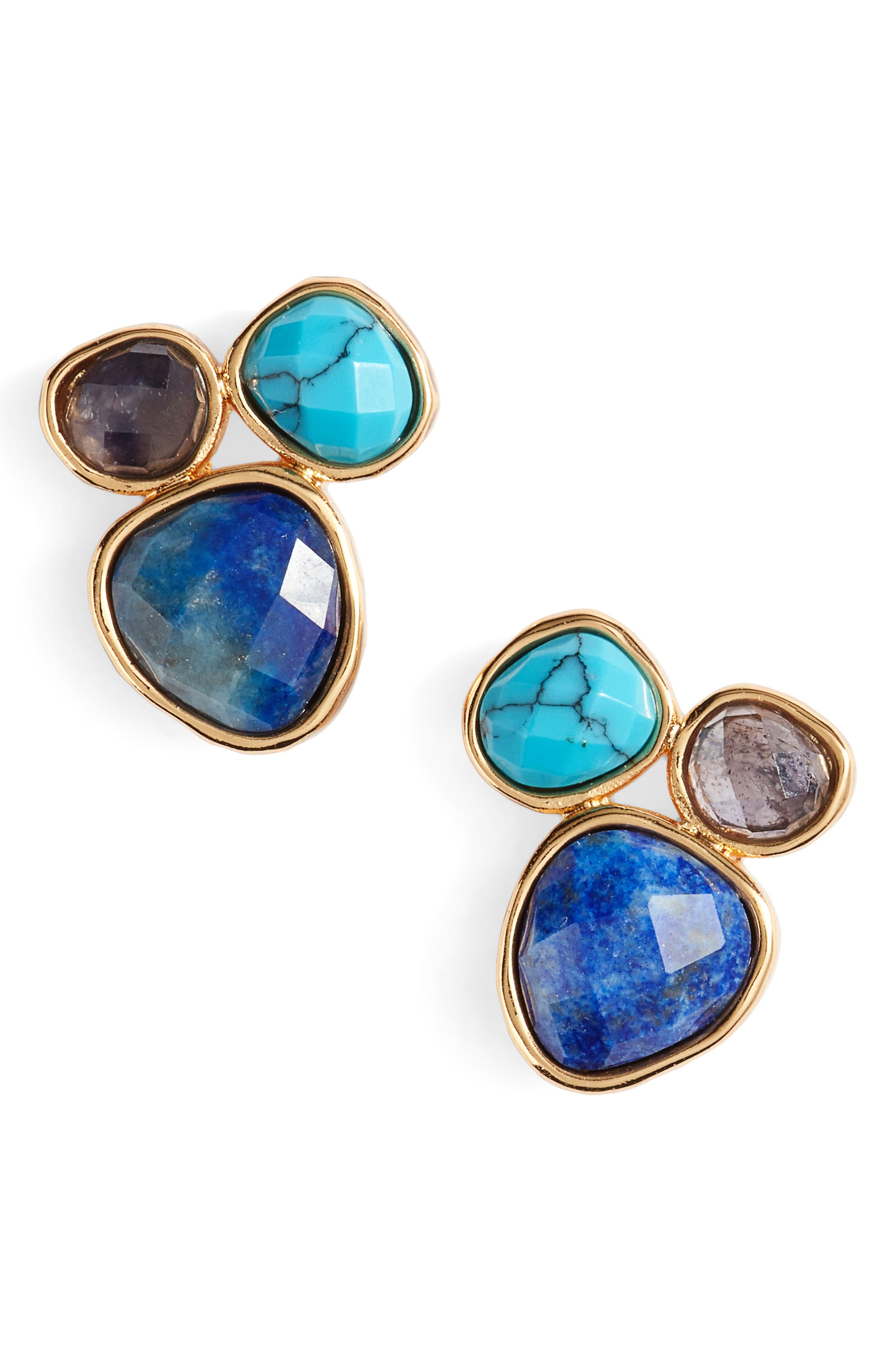 gorjana Lola Semiprecious Stone Stud Earrings