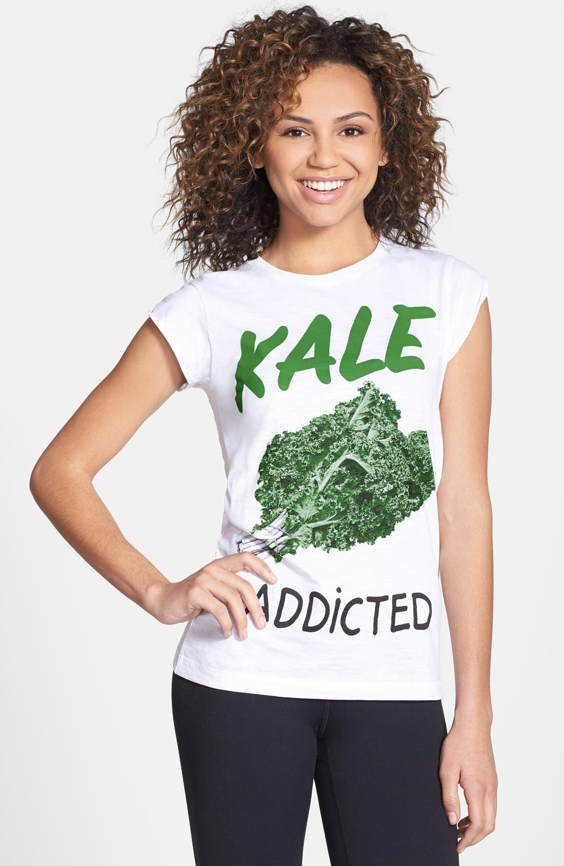 Main Image - Happiness® 'Kale Addicted' Cotton Tee