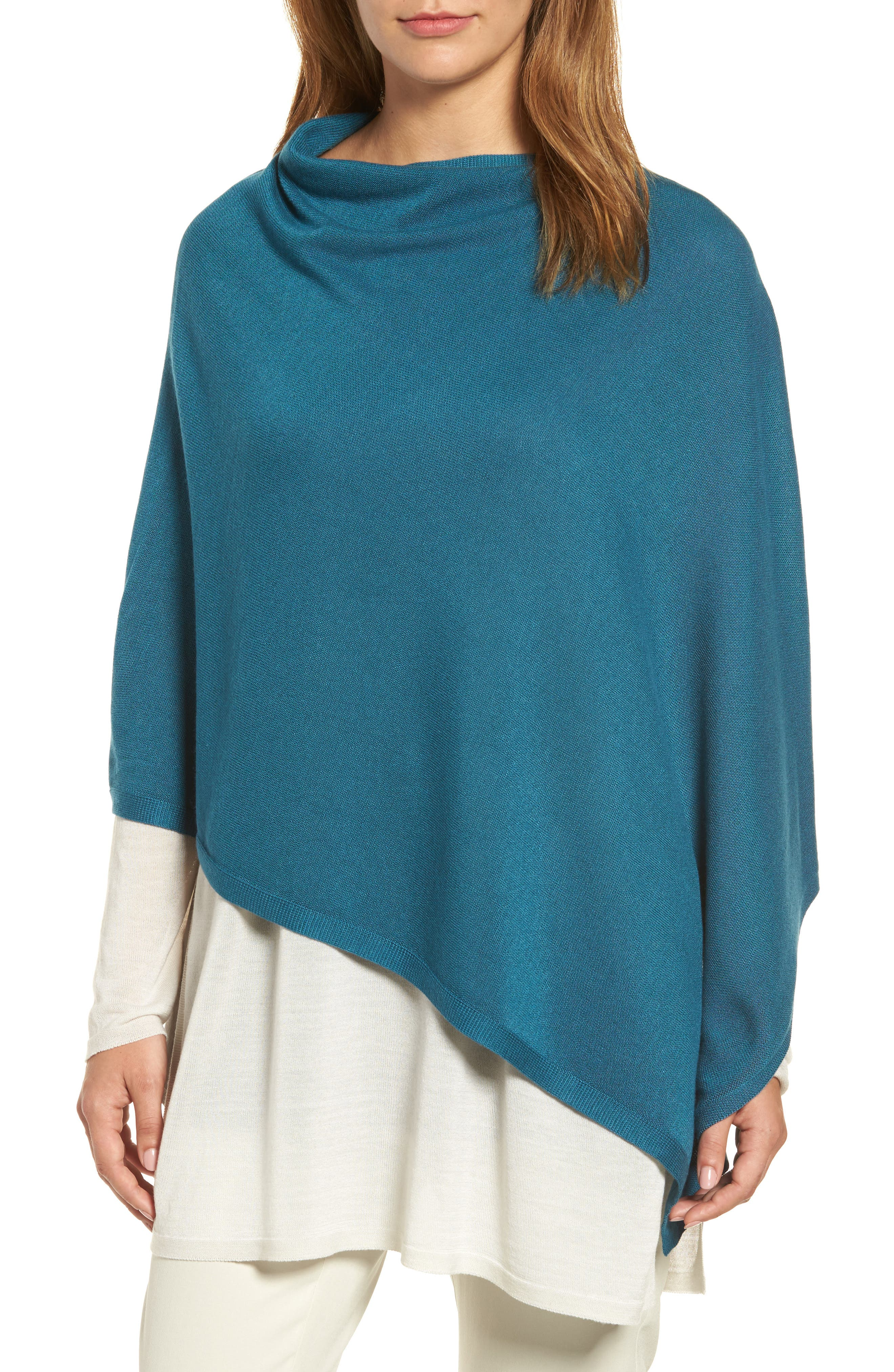 Eileen Fisher Tencel® & Wool Poncho