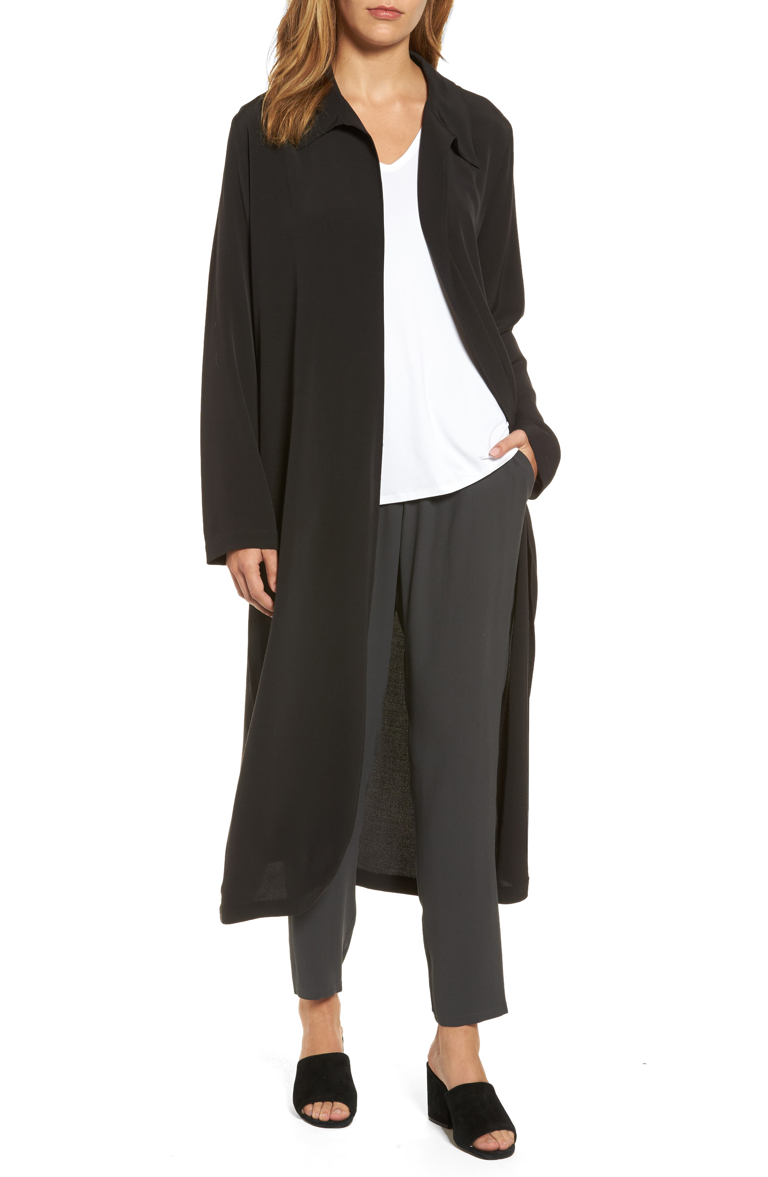 Eileen Fisher Open Front Duster Jacket