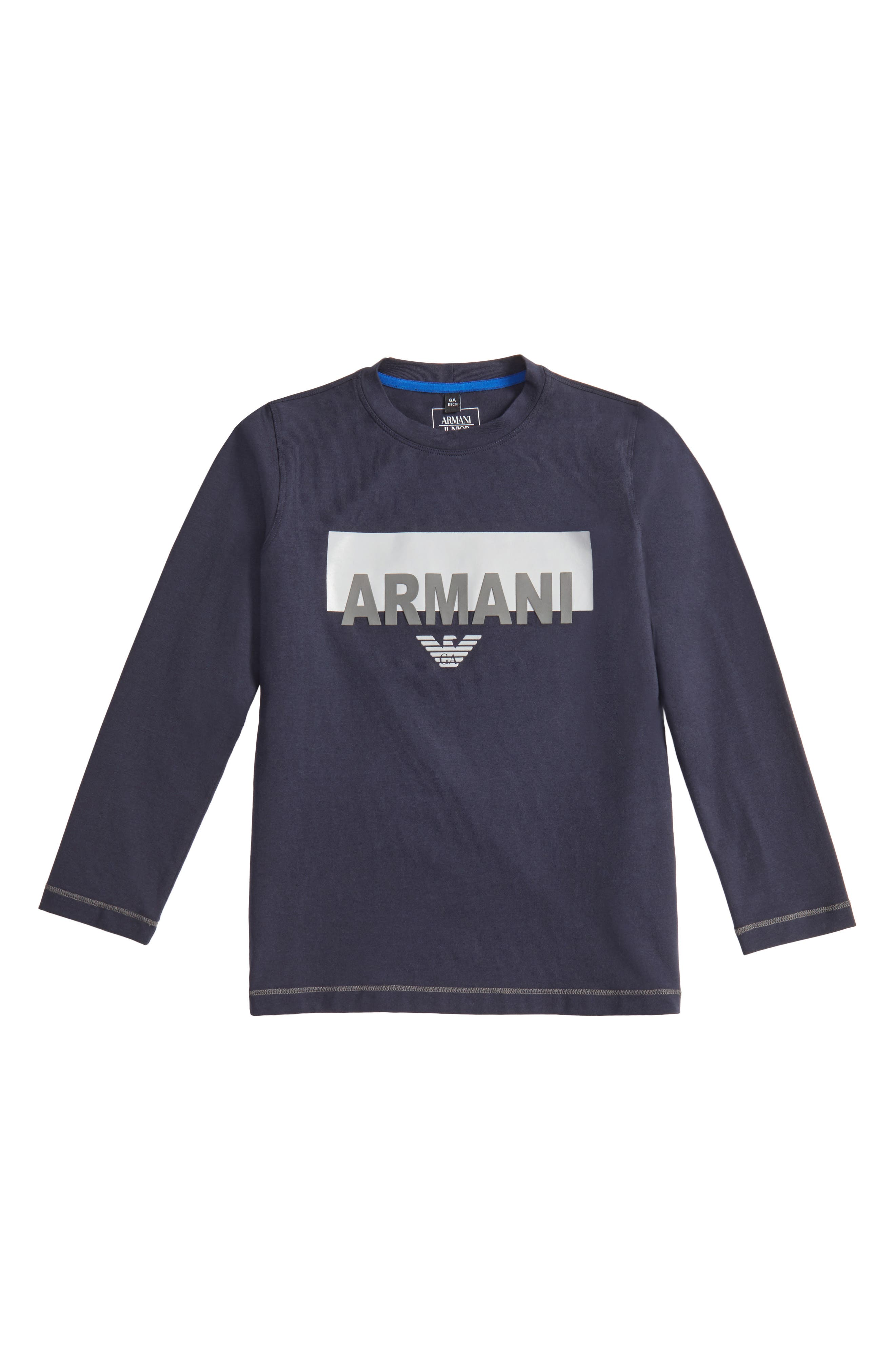 Armani Junior Logo Graphic T-Shirt (Little Boys & Big Boys)