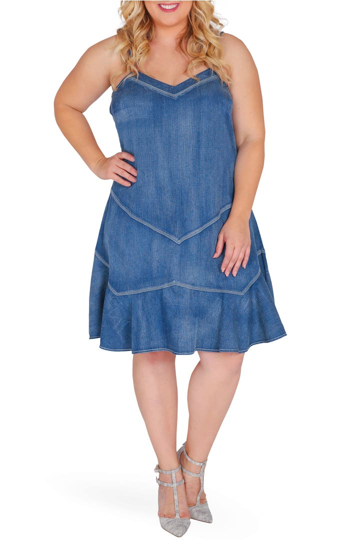 Standards practices rosie denim tank dress plus size for Nordstrom men s dress shirt fit guide