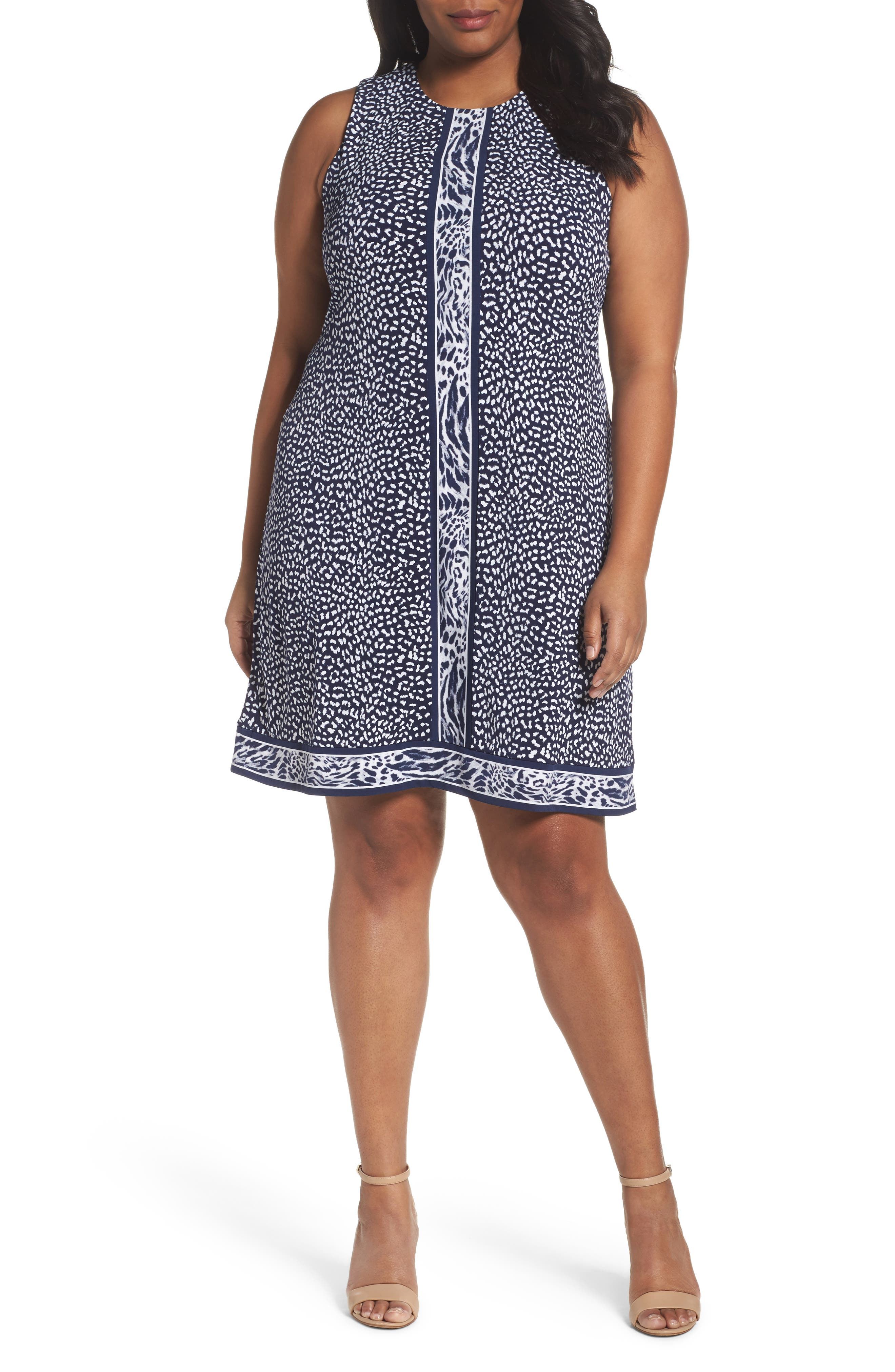 MICHAEL Michael Kors Animal Print Sheath Dress (Plus Size)