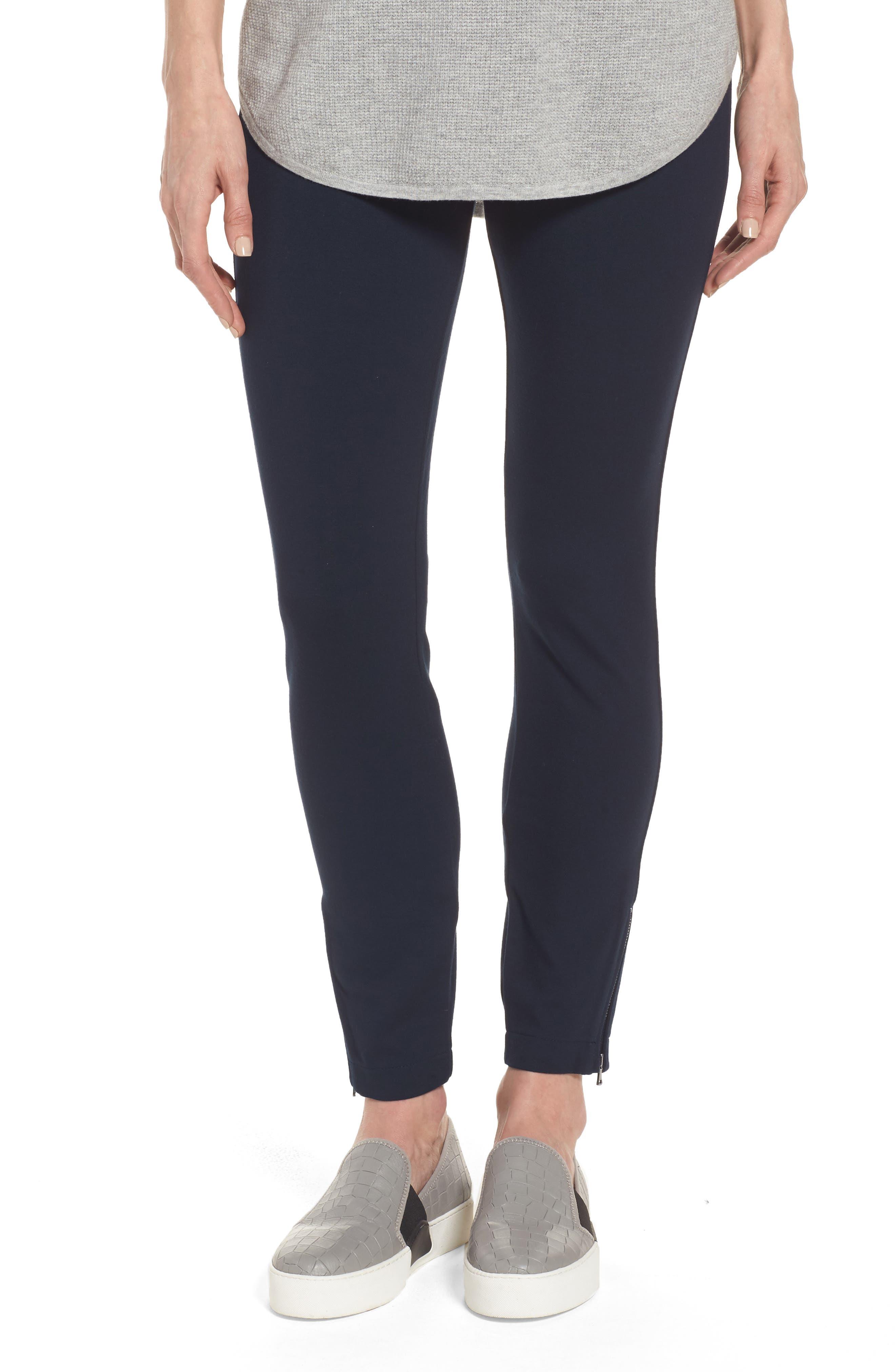 NYDJ Zip Ankle Ponte Leggings (Regular & Petite)