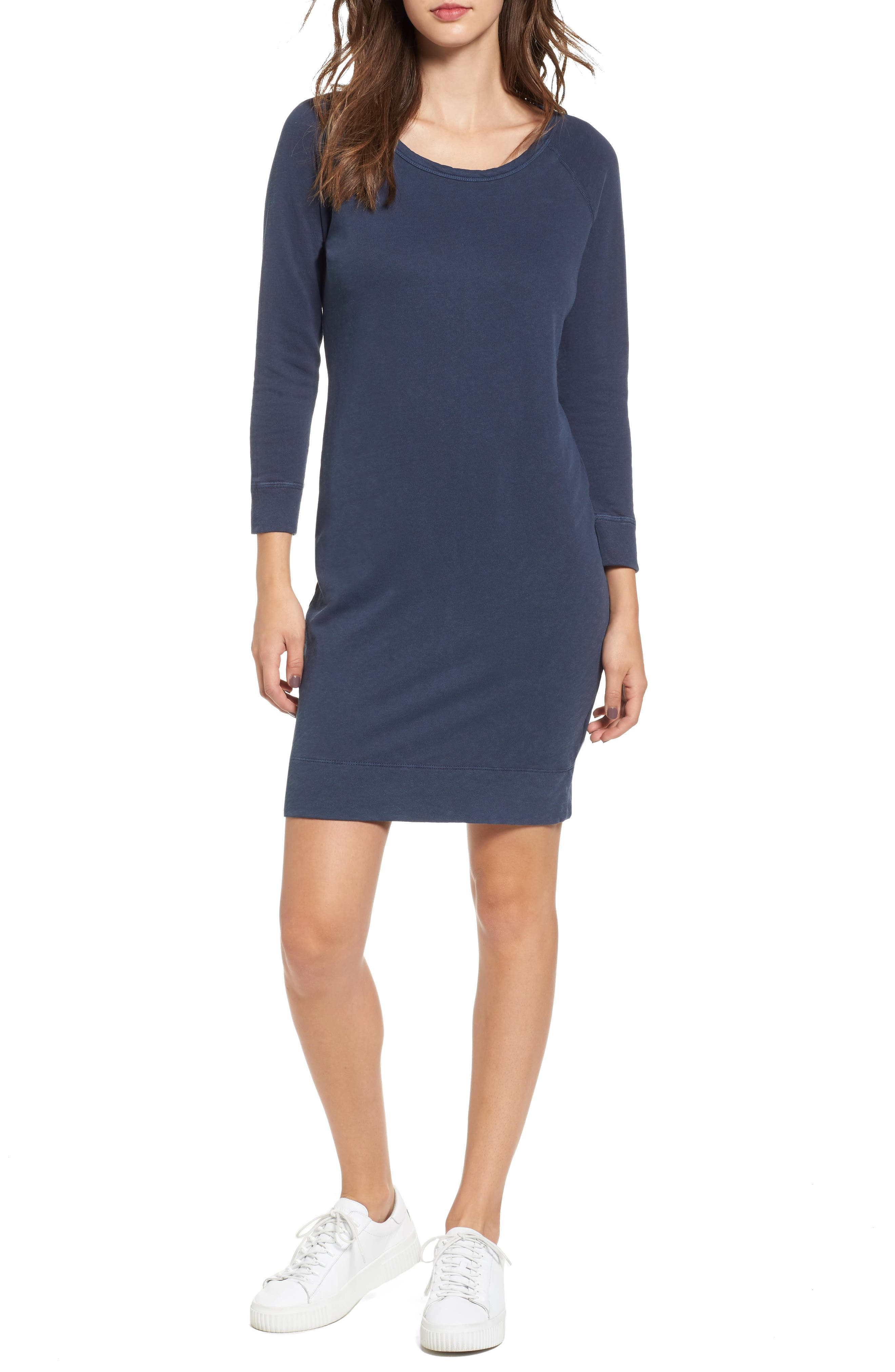 JAMES PERSE Raglan Sleeve Sweatshirt Dress