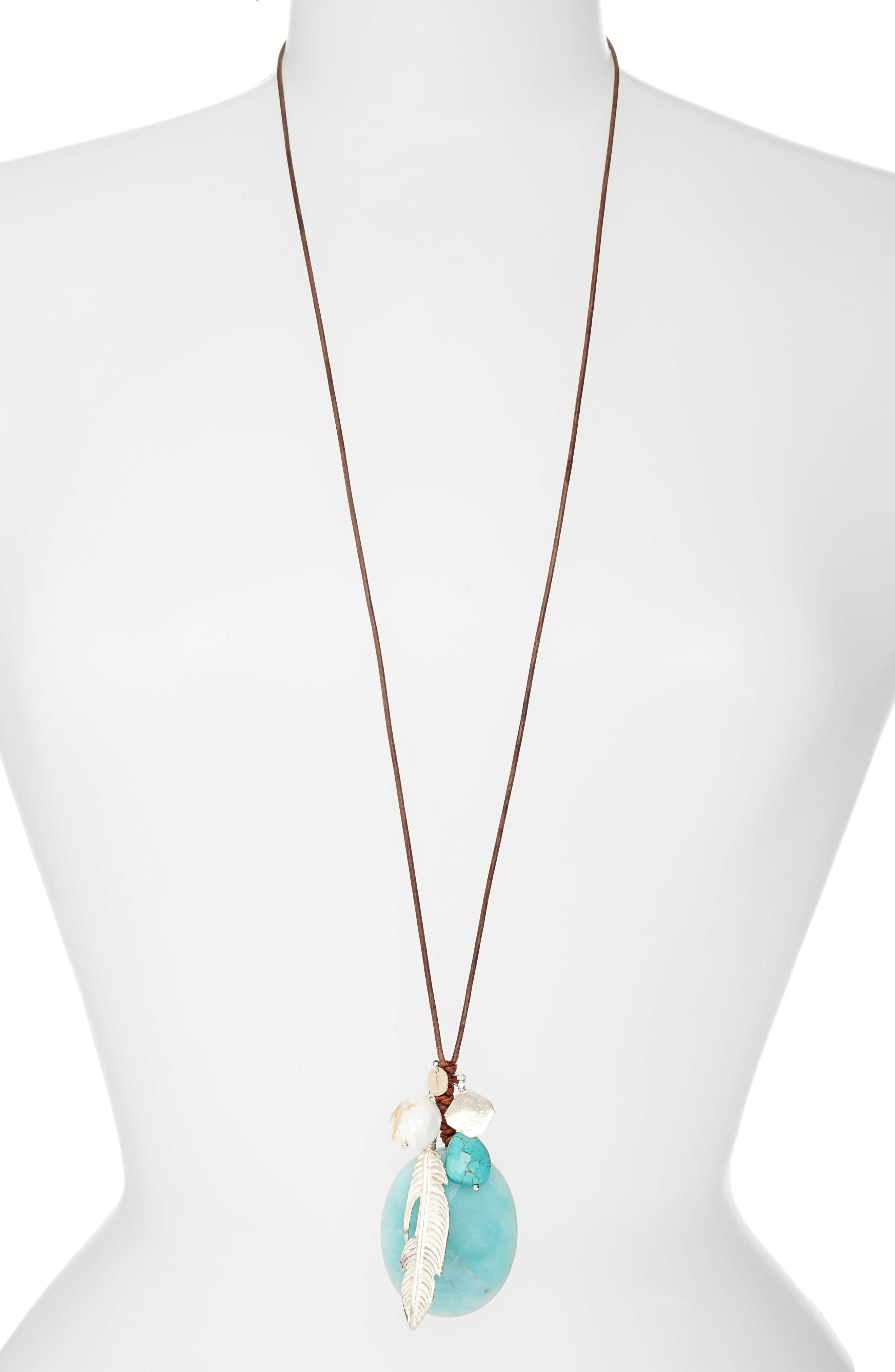 Chan Luu Leather Cord Pendant Necklace