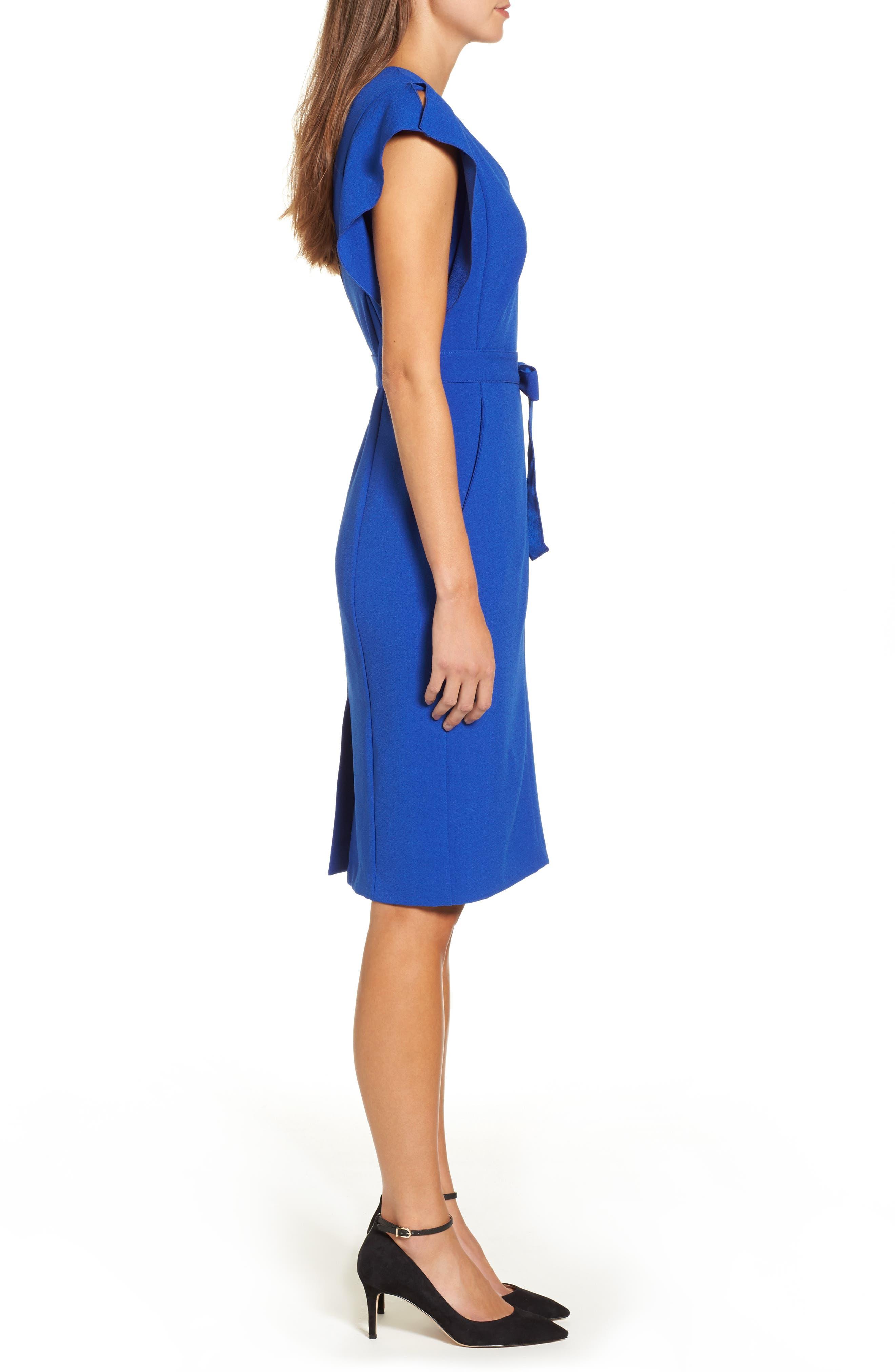 Alternate Image 4  - Eliza J Ruffle Sleeve Sheath Dress