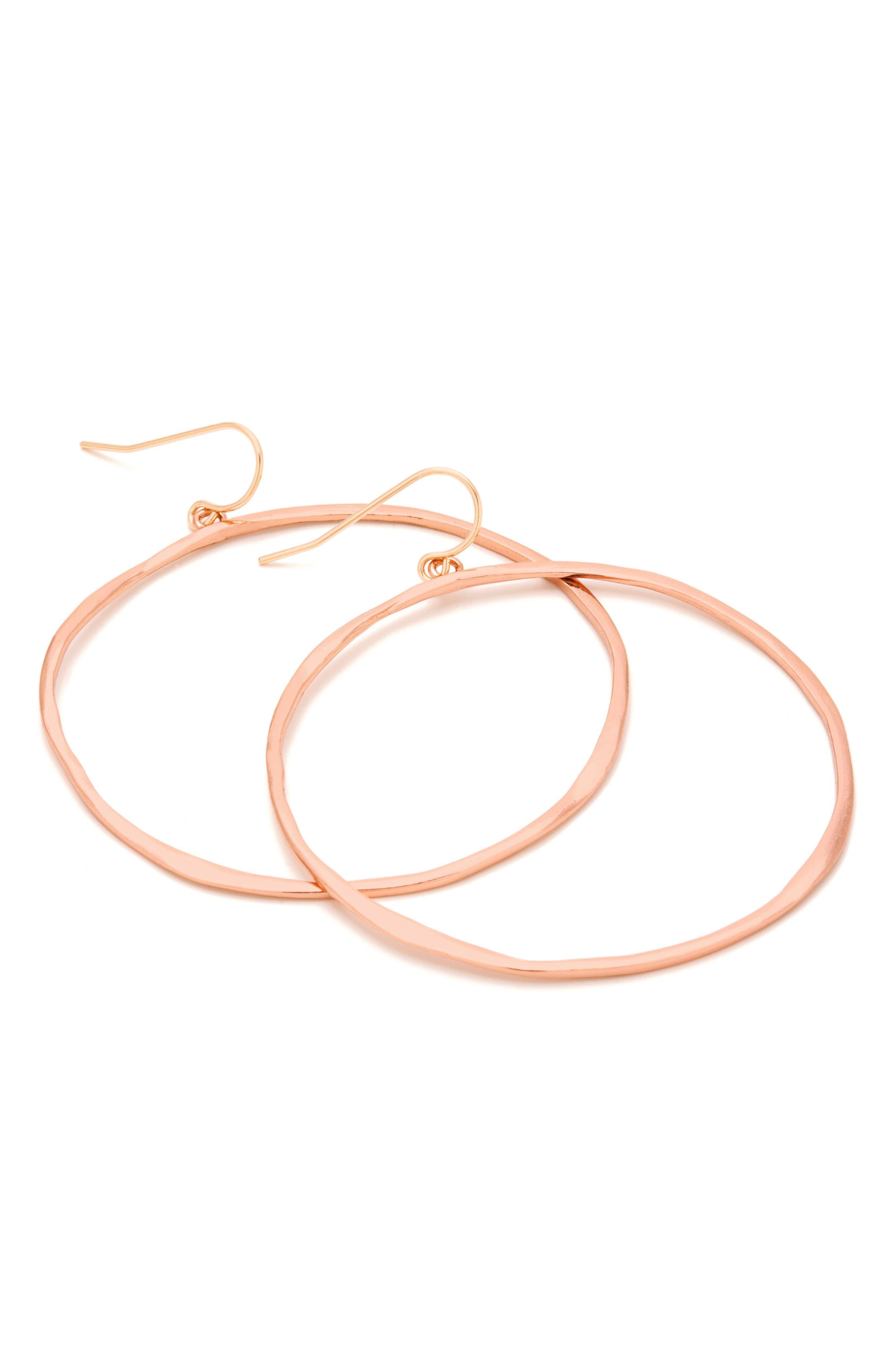Alternate Image 6  - gorjana G-Ring Frontal Hoop Earrings