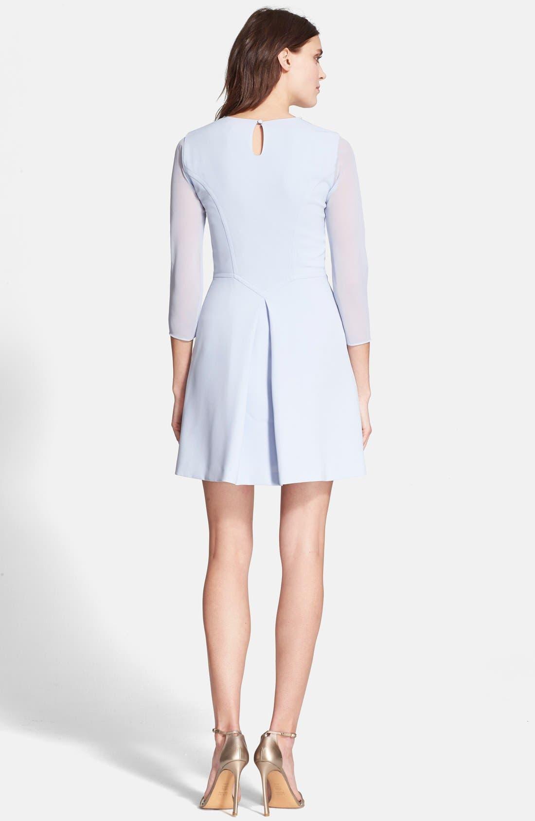 Alternate Image 2  - Ted Baker London 'Haswell' Embellished Three Quarter Sleeve A-Line Dress