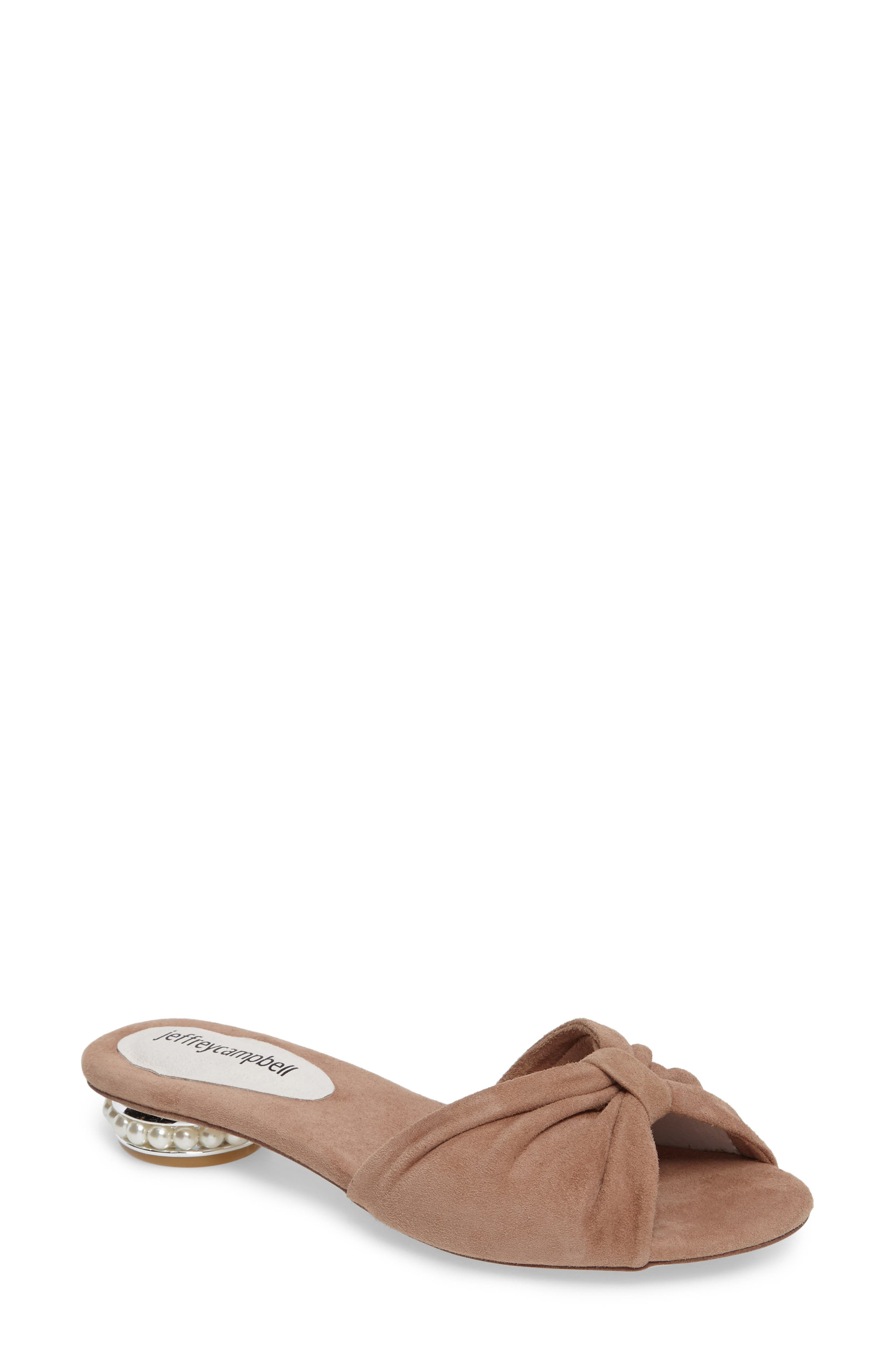 Jeffrey Campbell Turbina Embellished Slide Sandal (Women)