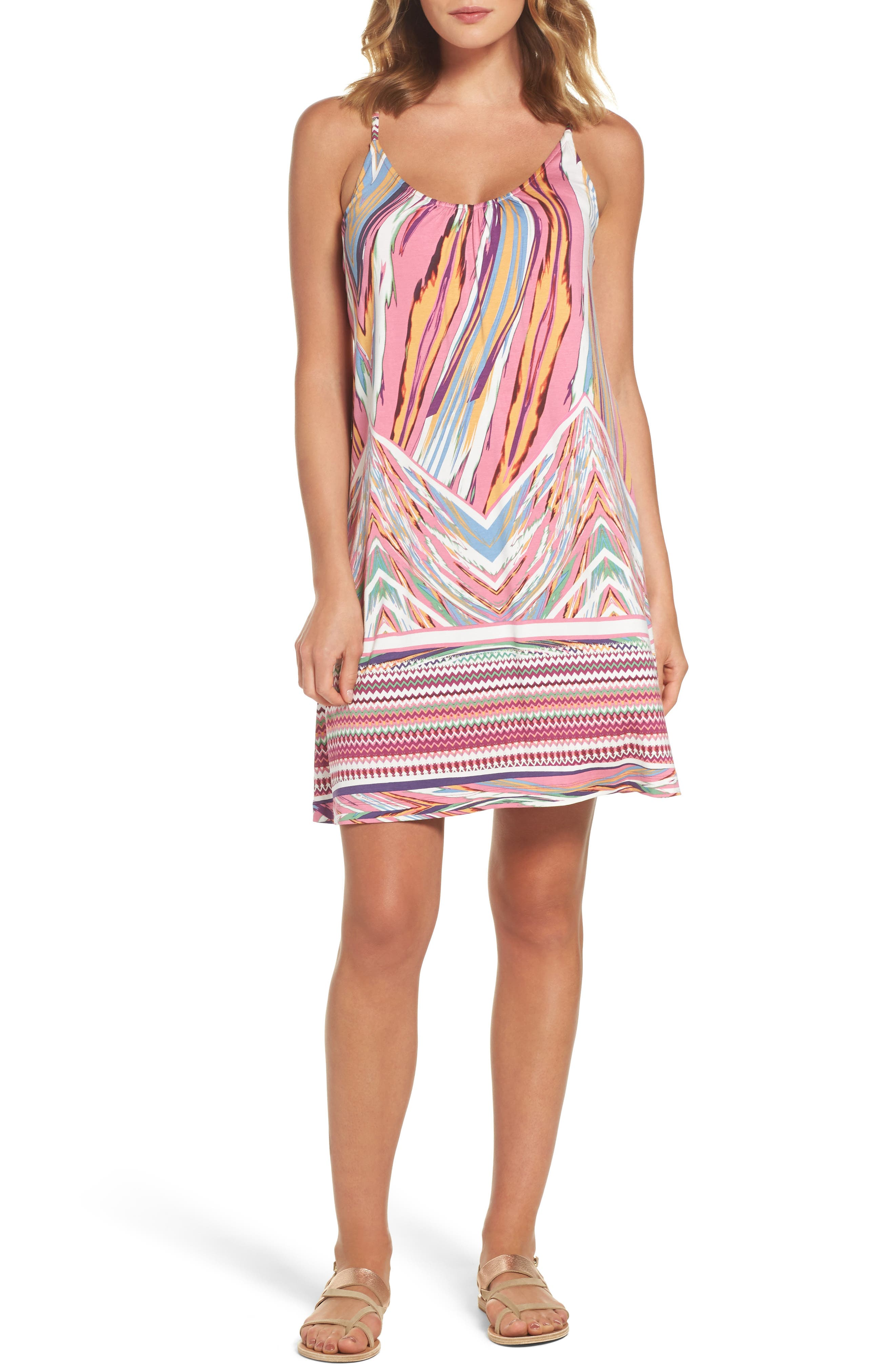 Felicity & Coco Print Slipdress (Regular & Petite) (Nordstrom Exclusive)