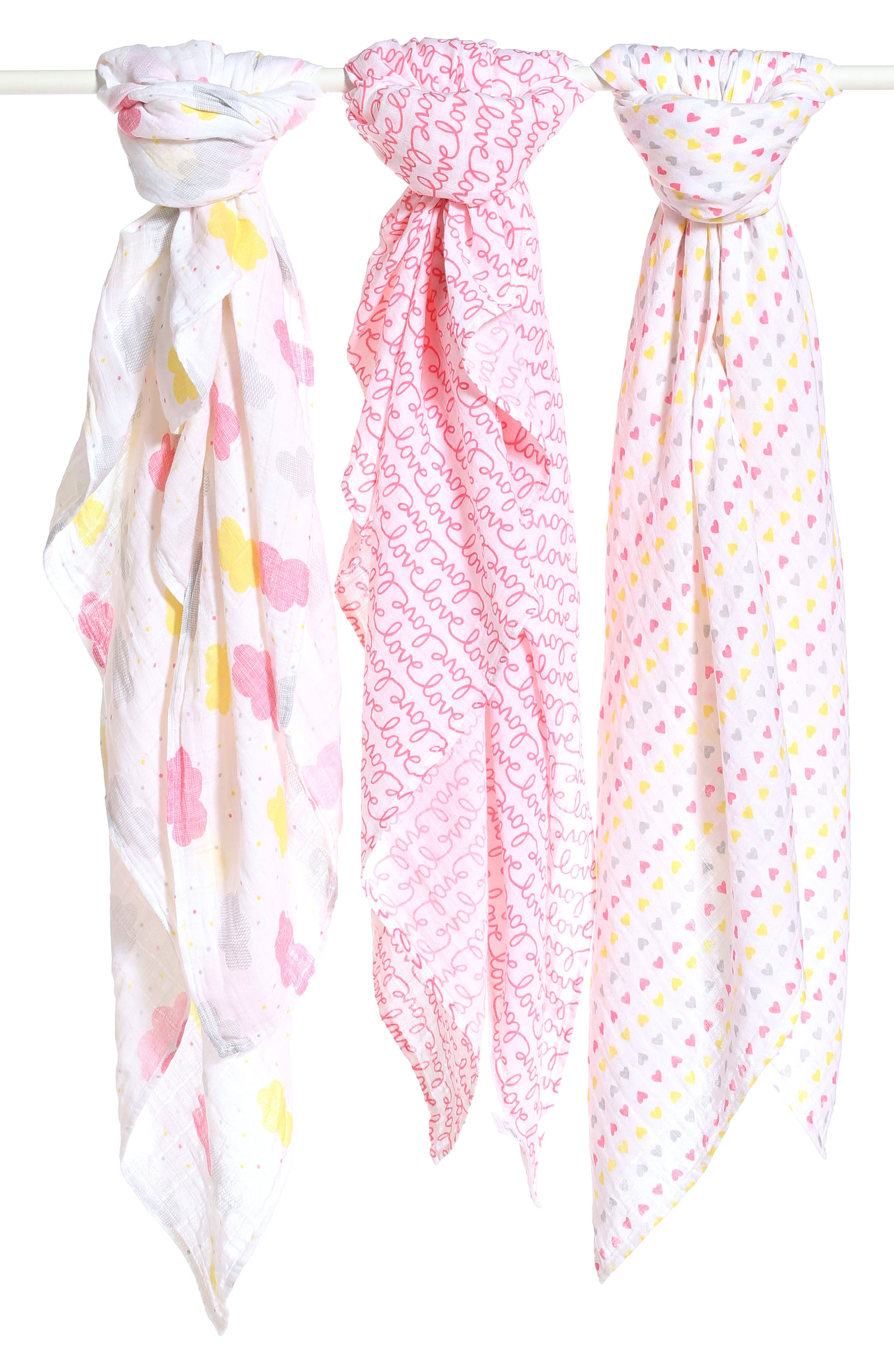 Nordstrom Baby 3-Pack Muslin Swaddles