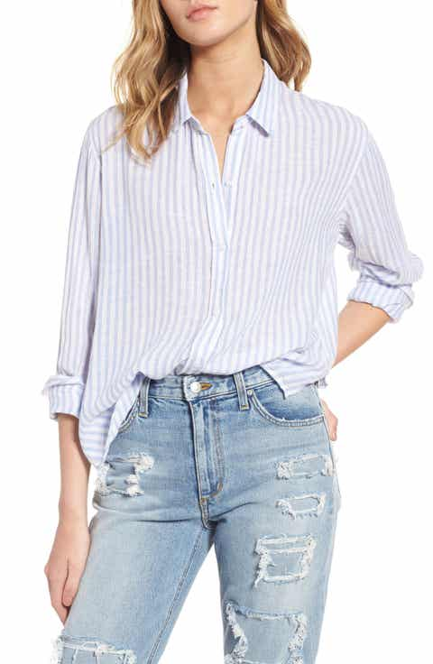 Rails Sydney Stripe Linen Blend Shirt
