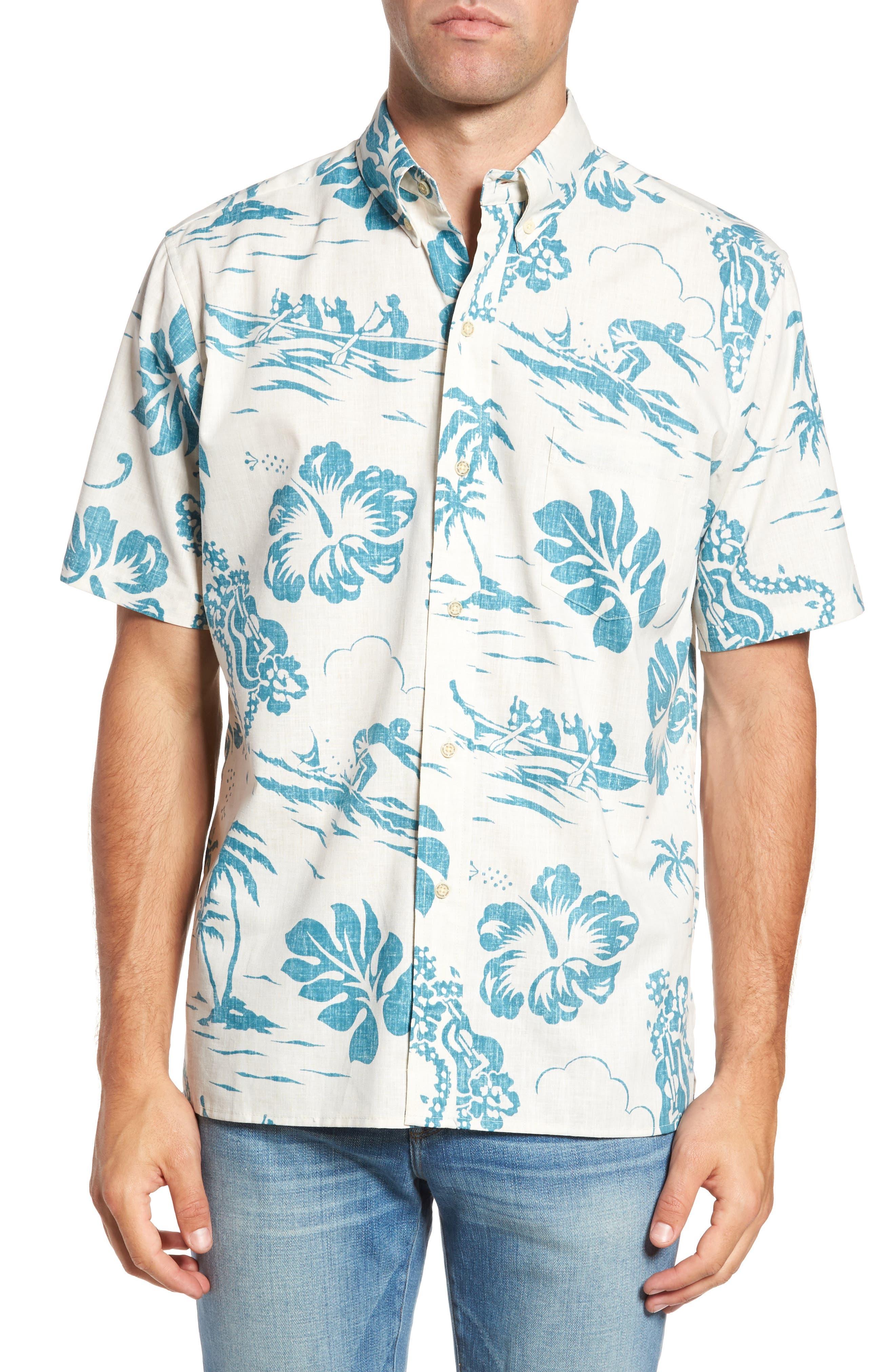 Reyn Spooner Quiet Lagoon Classic Fit Sport Shirt