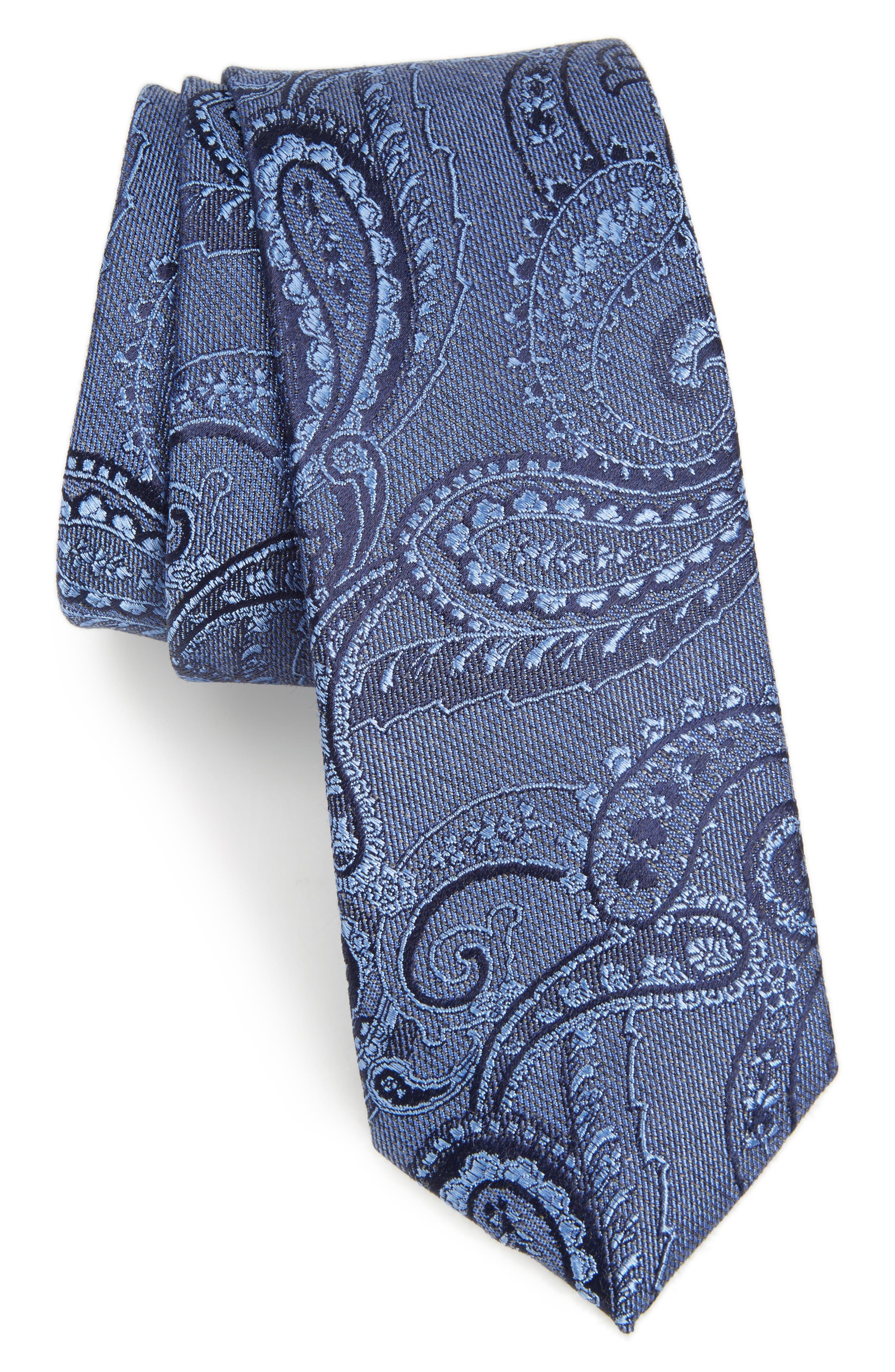 Calibrate Vela Paisley Silk Blend Tie