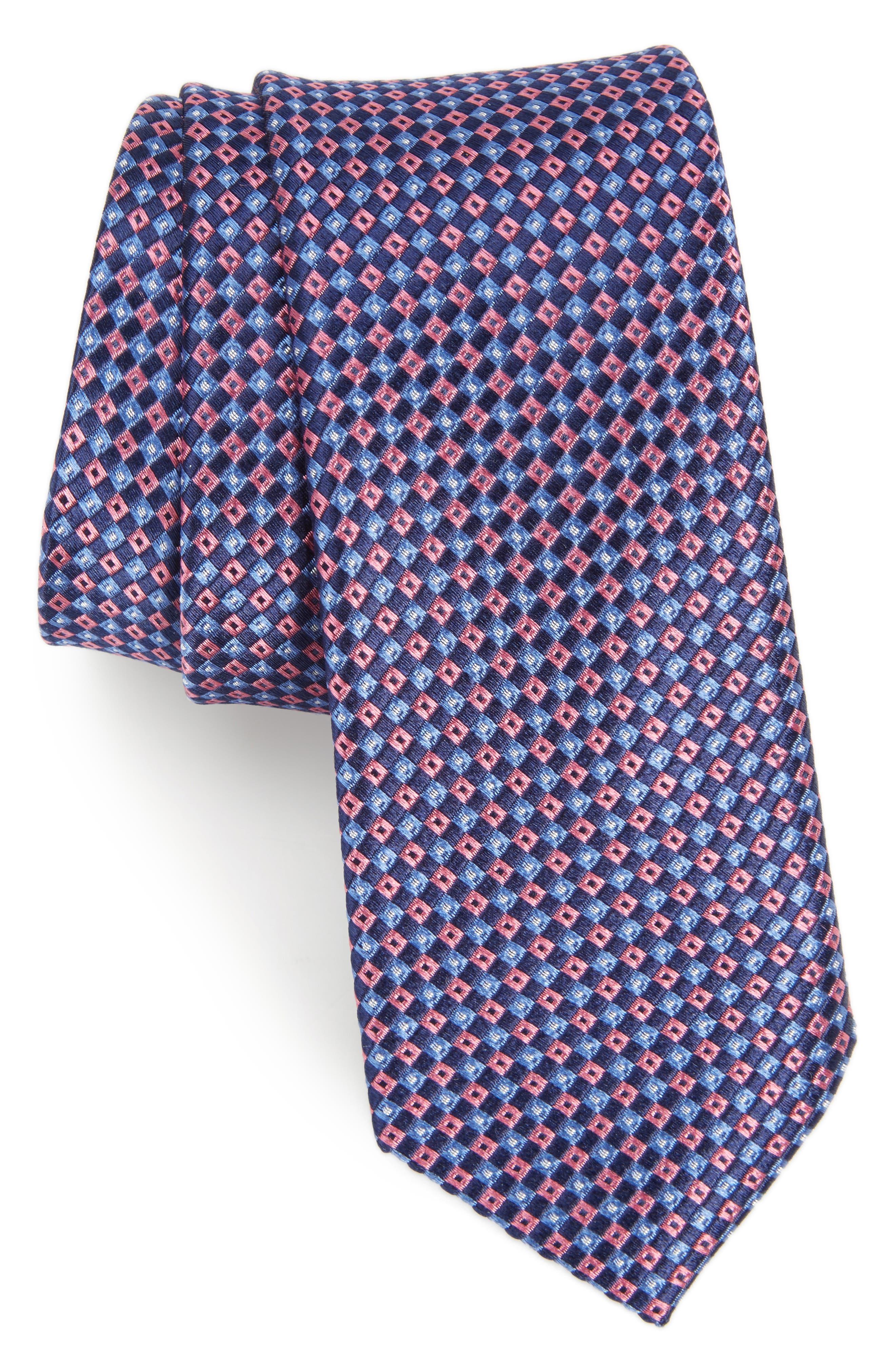 Nordstrom Men's Shop Tino Geometric Silk Skinny Tie