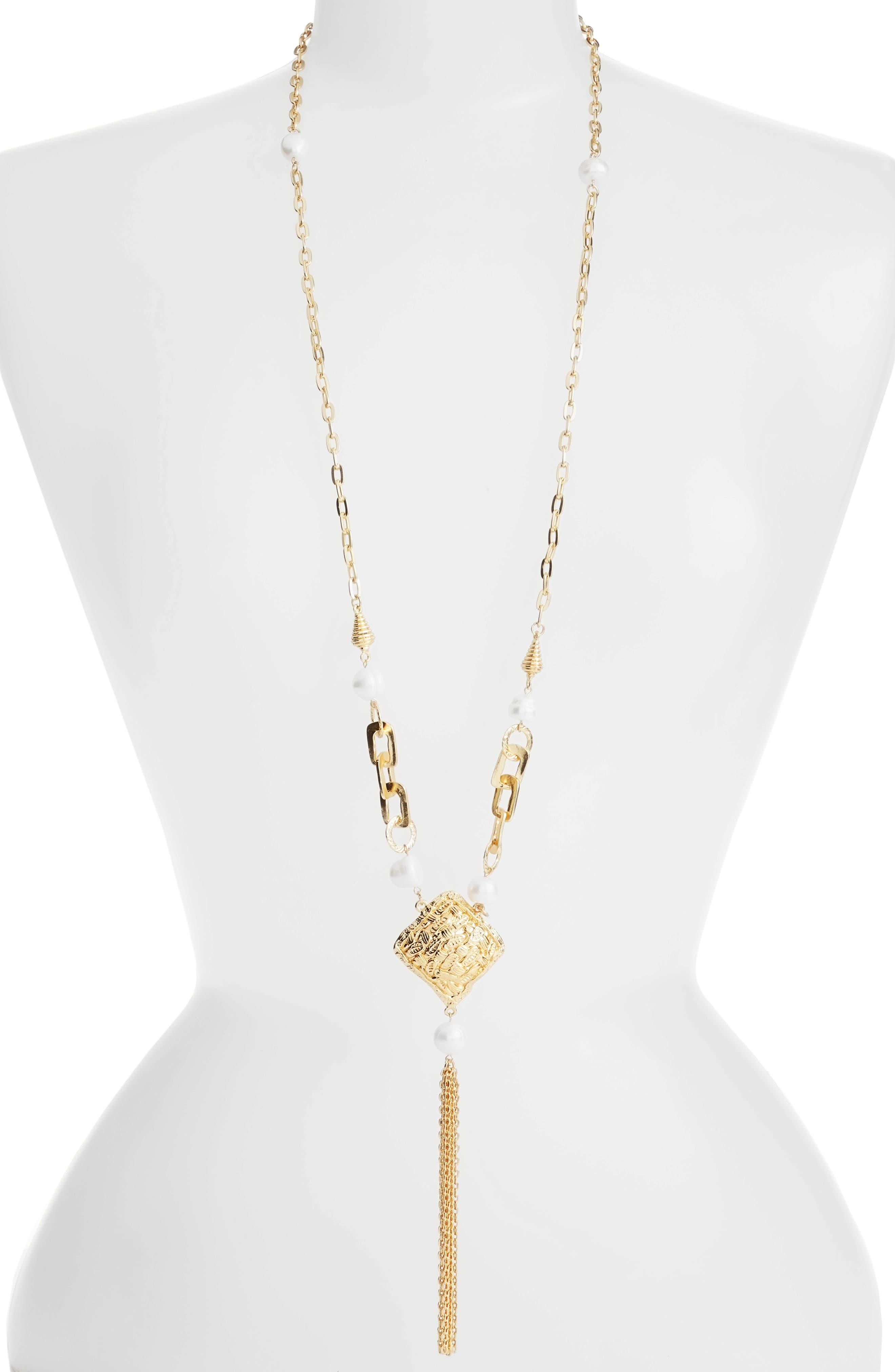 Karine Sultan Long Y-Necklace