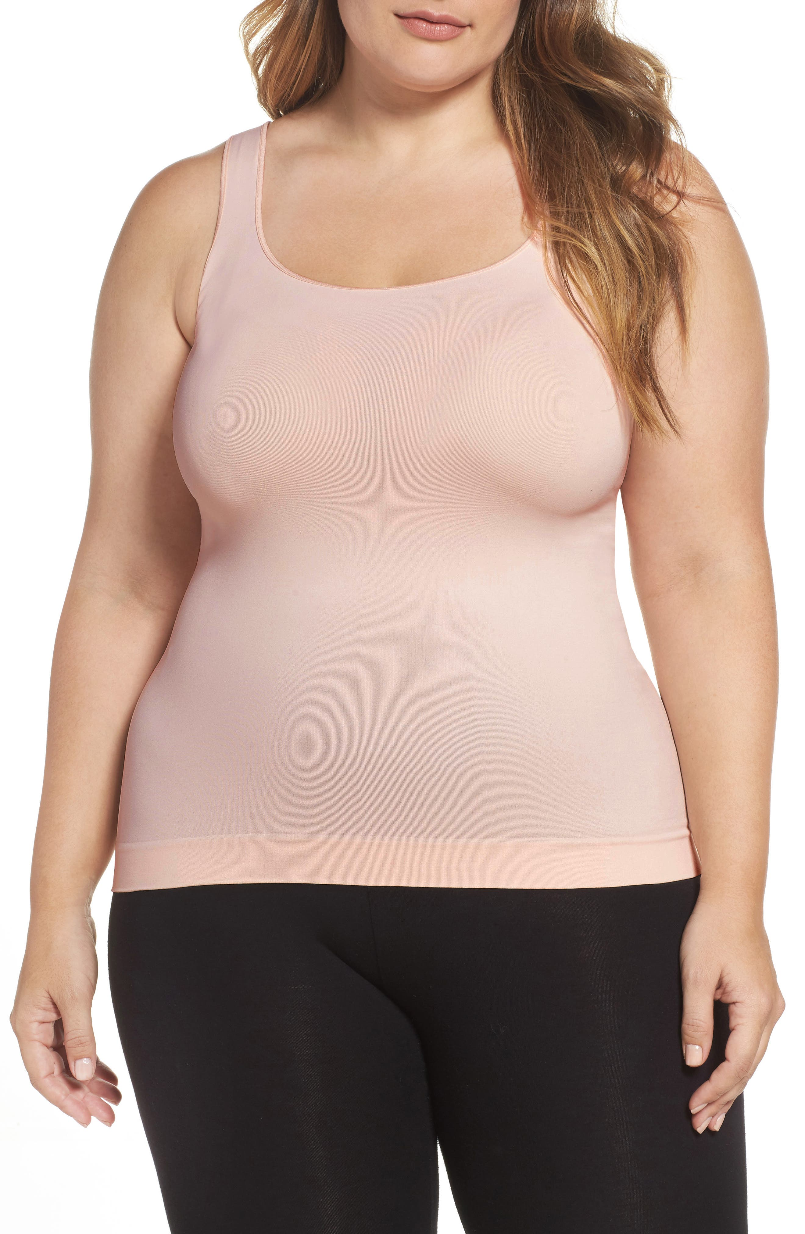 Nordstrom Lingerie Two-Way Seamless Tank (Plus Size) (2 for $36)