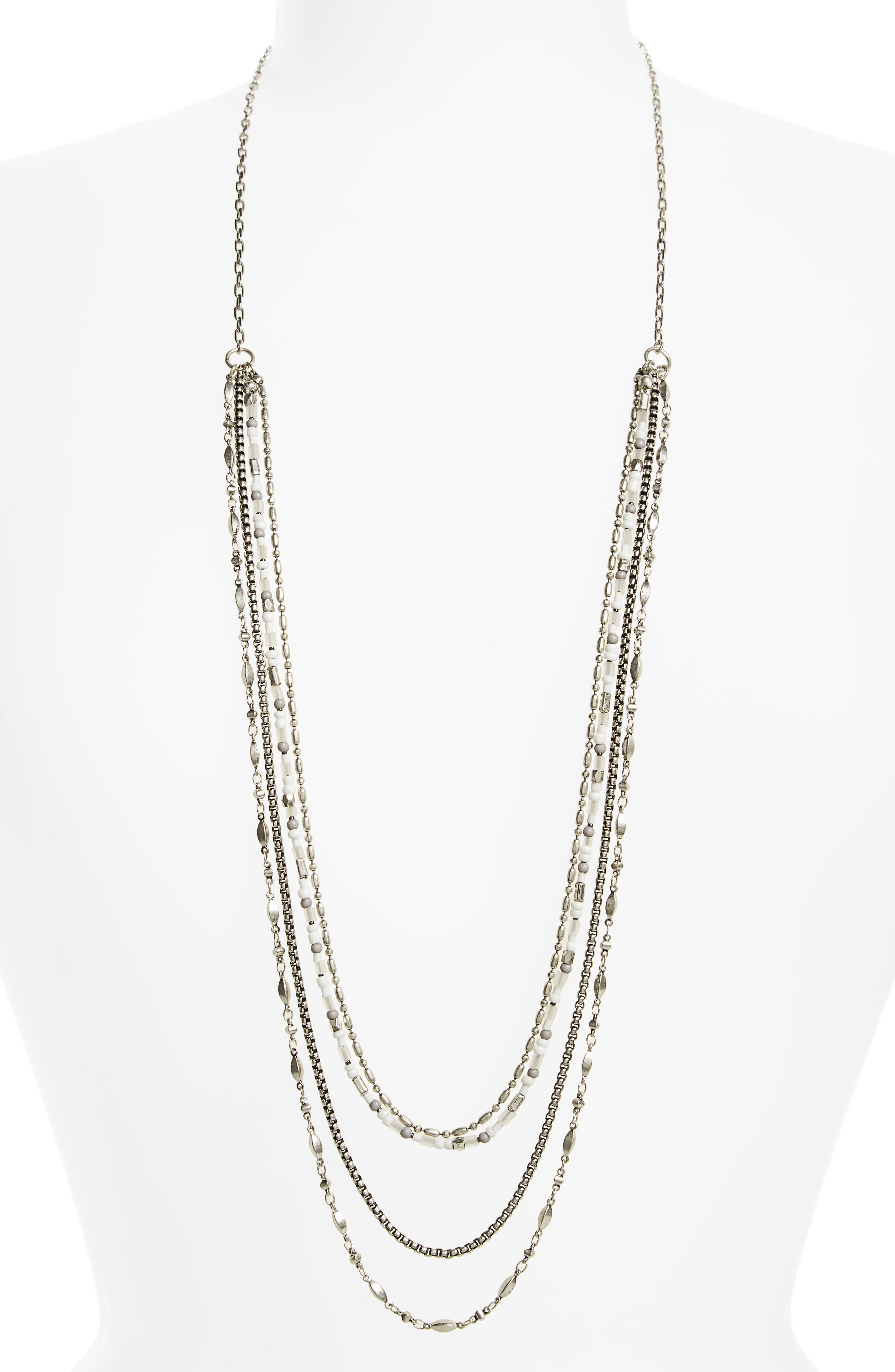 Treasure & Bond Beaded Drape Necklace