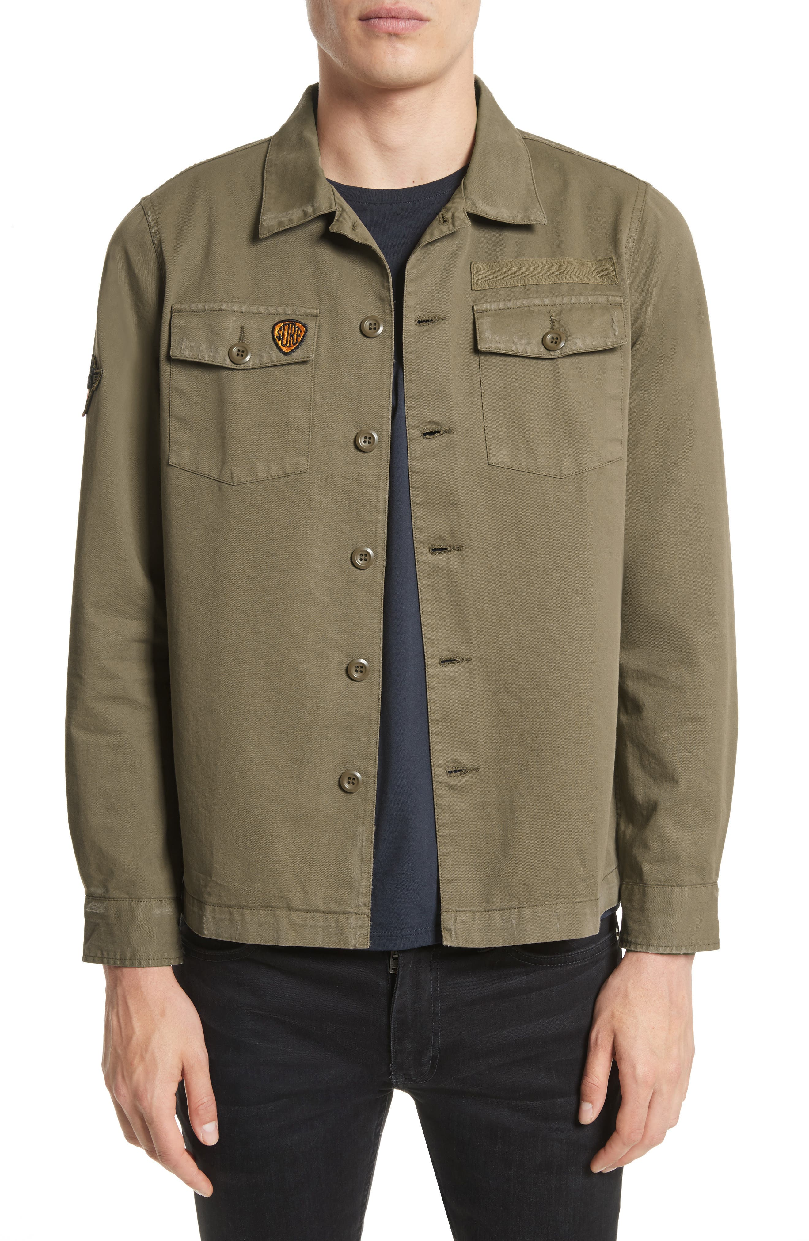 The Kooples Double Pocket Shirt Jacket