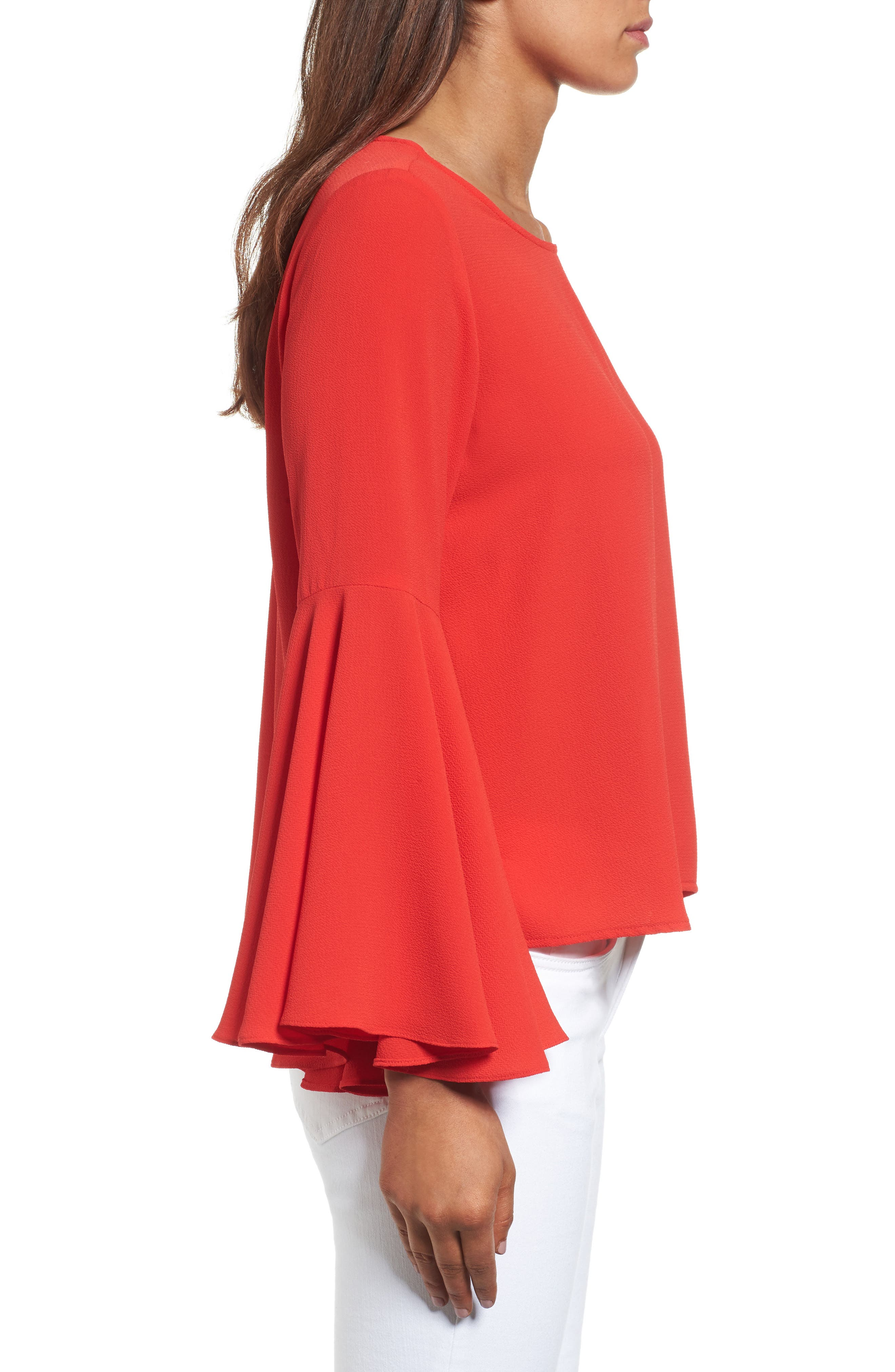 Alternate Image 3  - Vince Camuto Bell Sleeve Blouse (Regular & Petite)