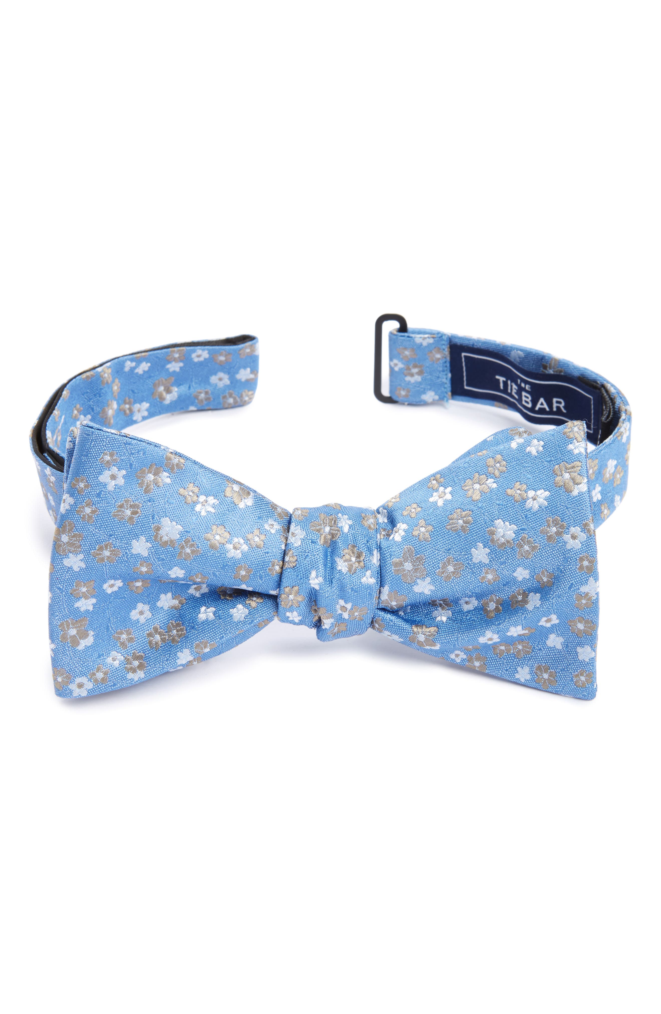 The Tie Bar Freefall Floral Silk Bow Tie