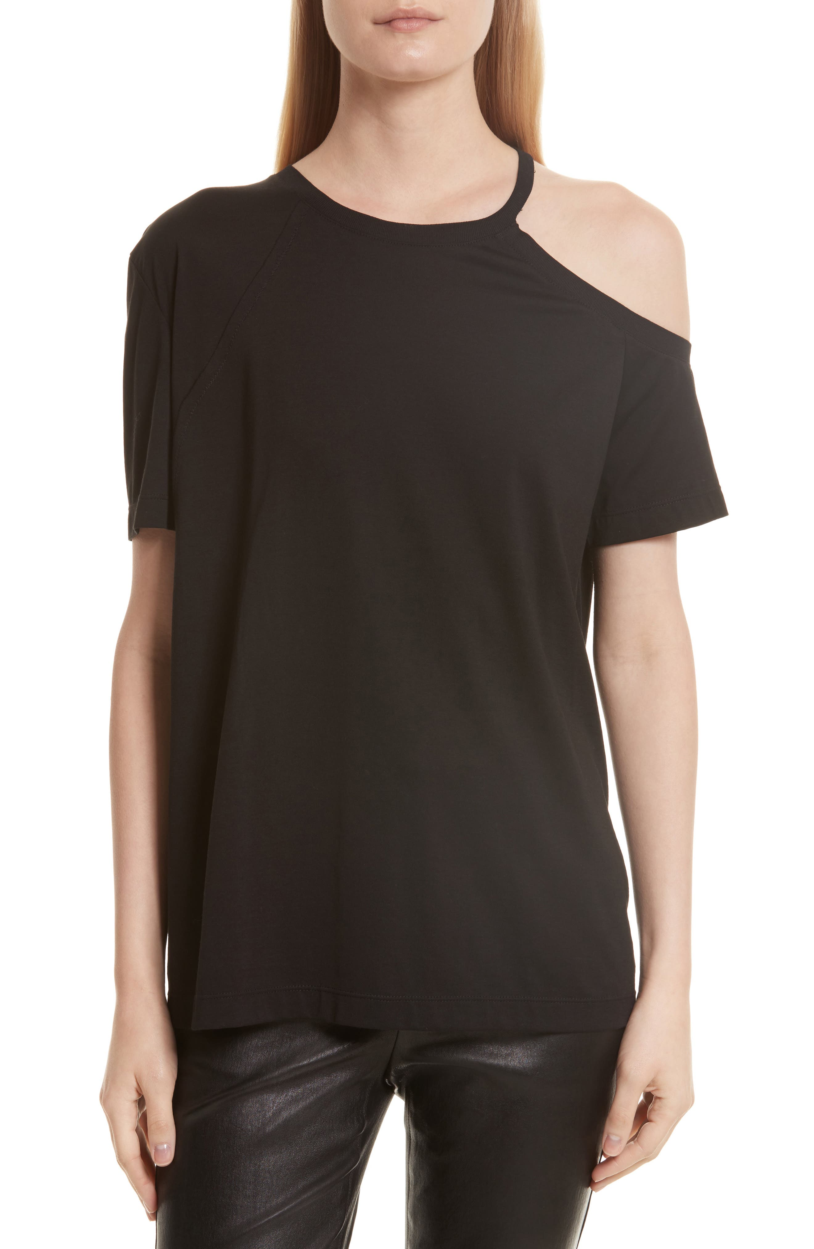 Helmut Lang Deconstructed Pima Cotton Tee